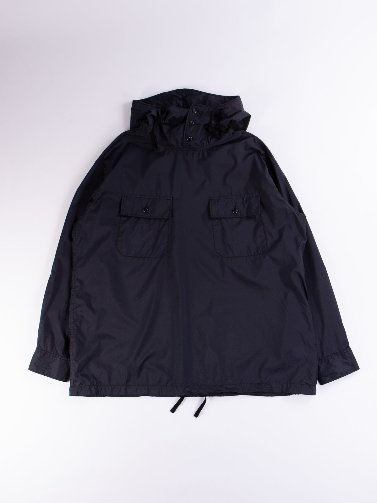 Dark Navy Nylon Micro Ripstop Cagoule Shirt - Image 1