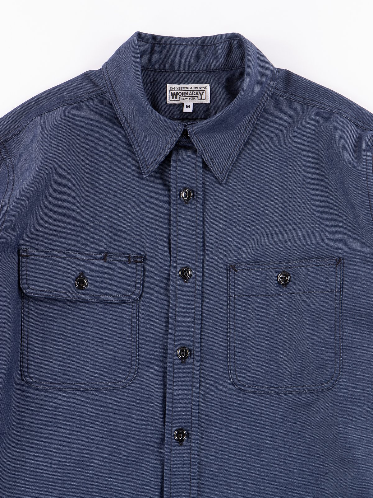 Indigo Cotton Denim Utility Shirt - Image 2
