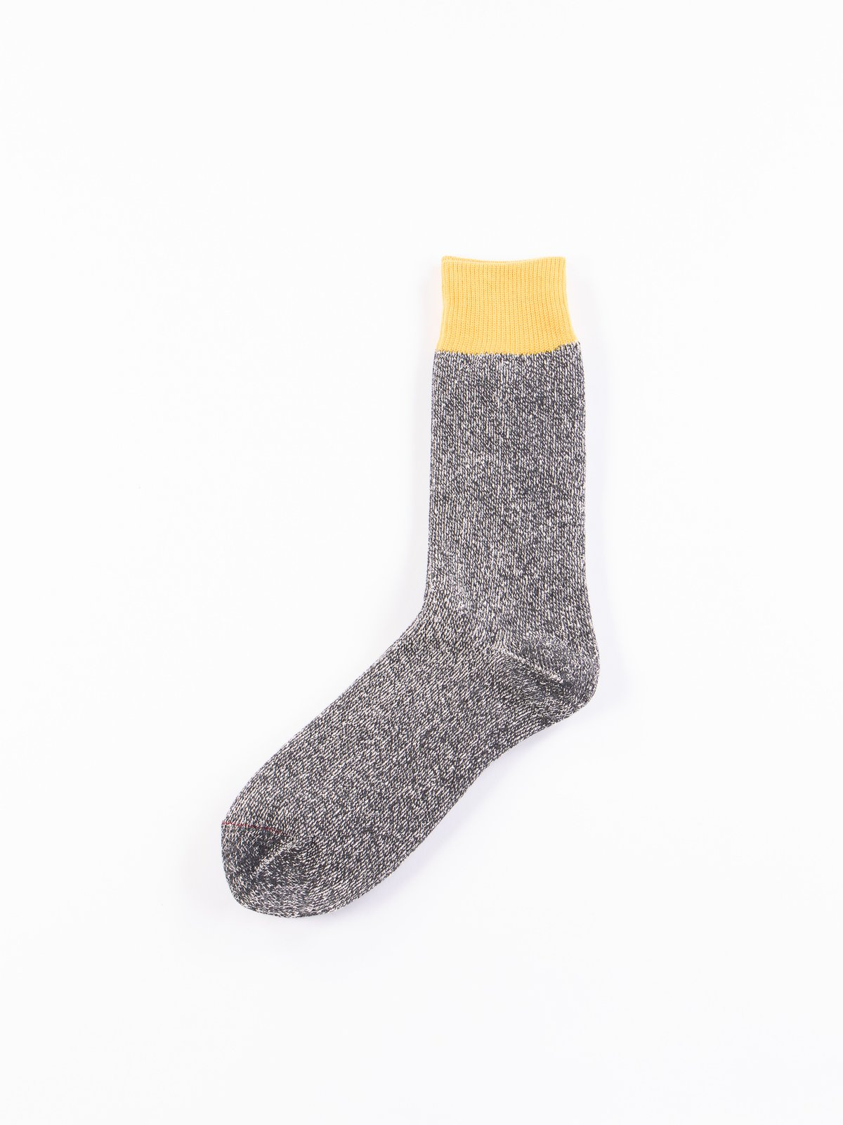 Yellow/Charcoal Double Face Socks - Image 1