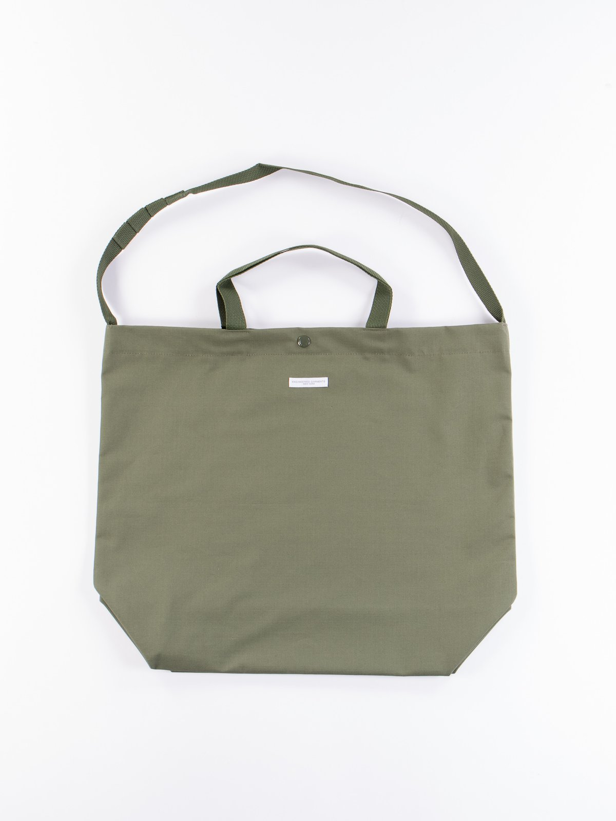 Olive Cotton Ripstop Carry All Tote - Image 1