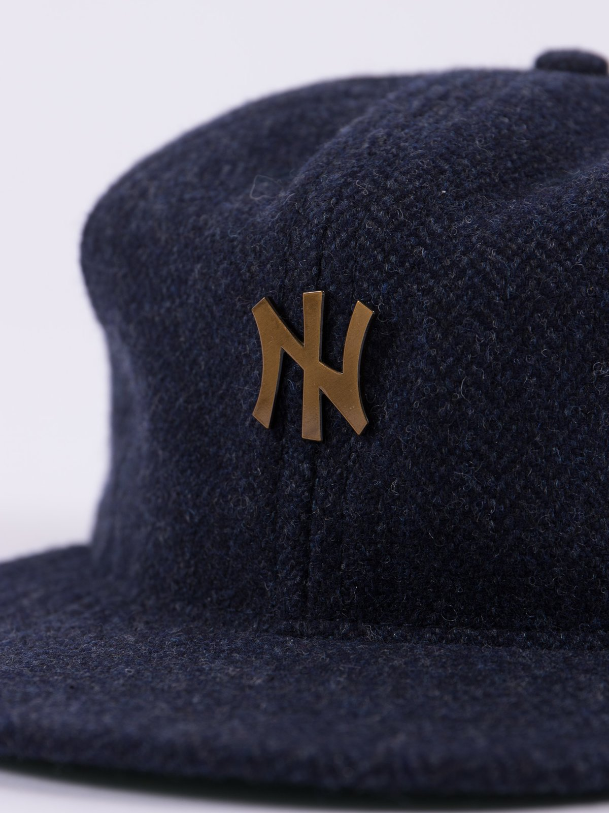 Navy HB Tweed NIer 6 Panel Ballcap - Image 6