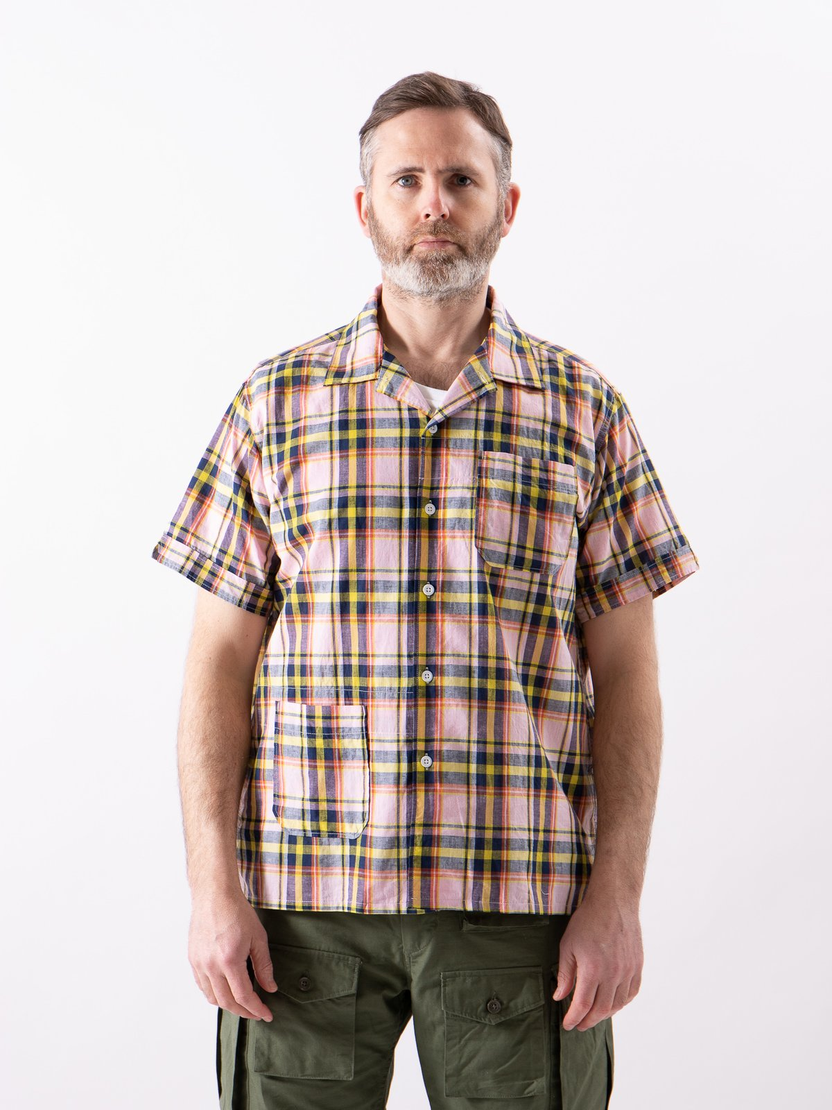 Pink/Yellow CL Madras Plaid Camp Shirt - Image 2