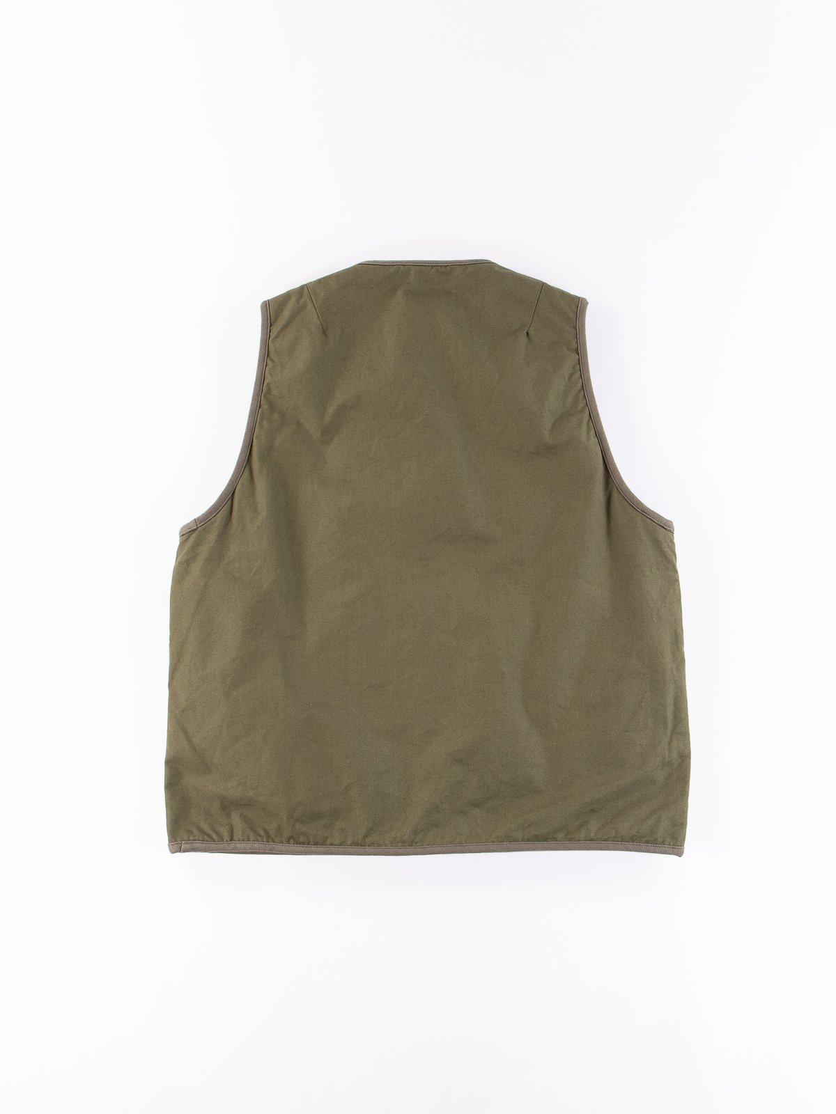 Olive Iris Cotton Liner Vest - Image 5