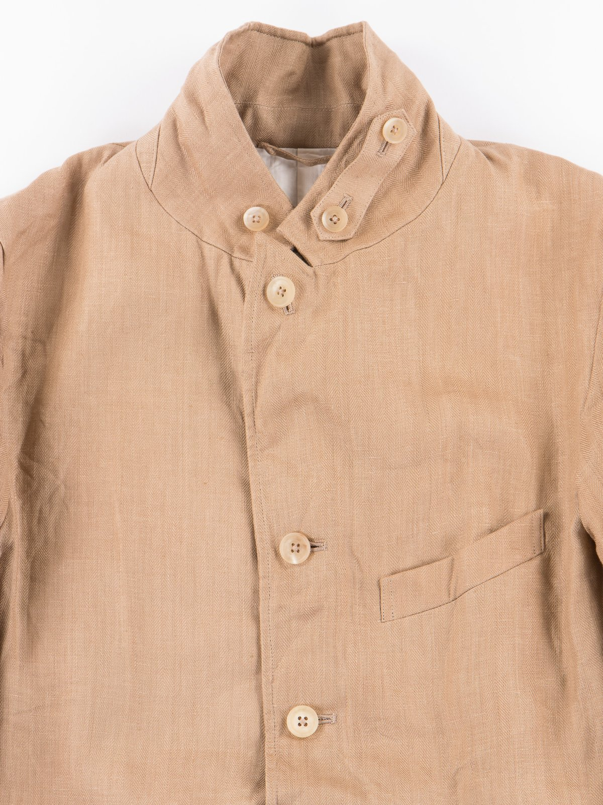 Beige Linen Old Potter Jacket - Image 4