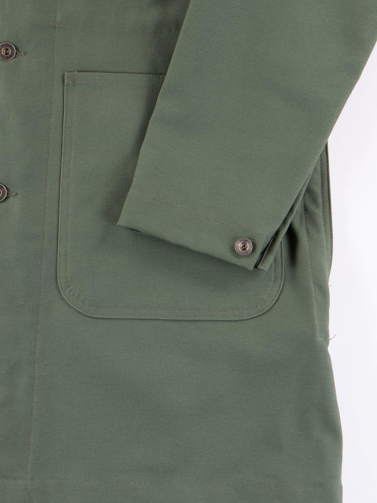 Olive Reversed Sateen Shop Coat - Image 3