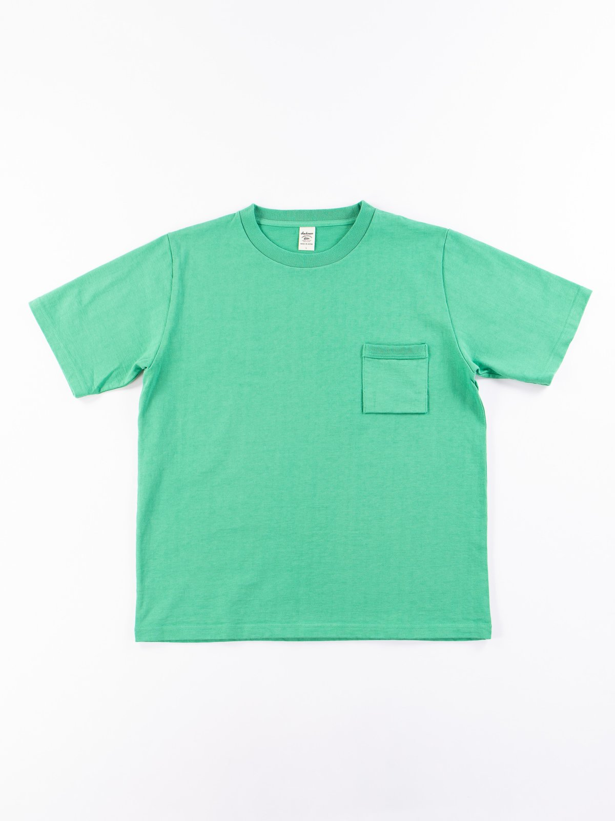 Kelly Green Dotsume Pocket T–Shirt - Image 1
