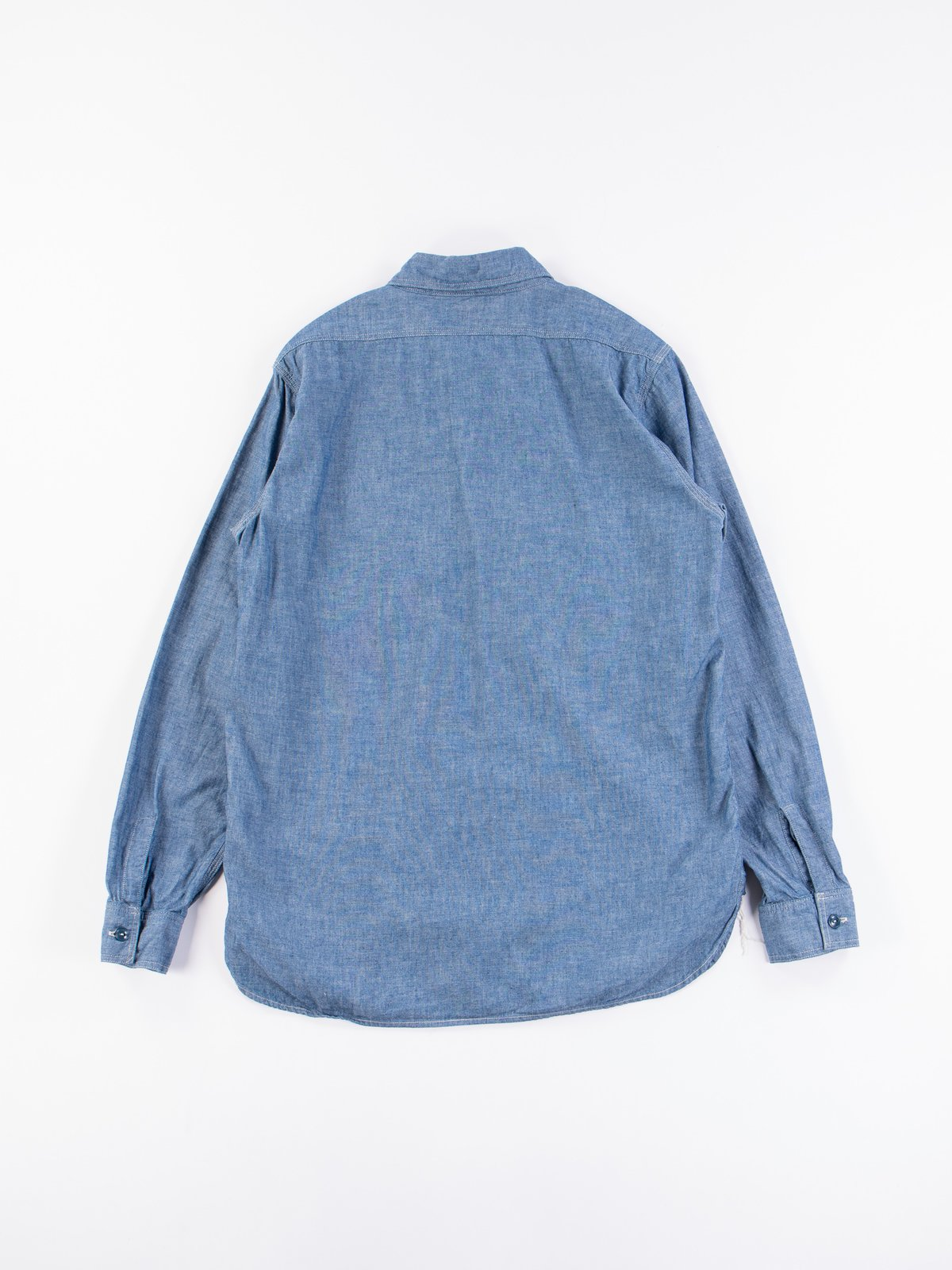 Blue Chambray Work Shirt - Image 5
