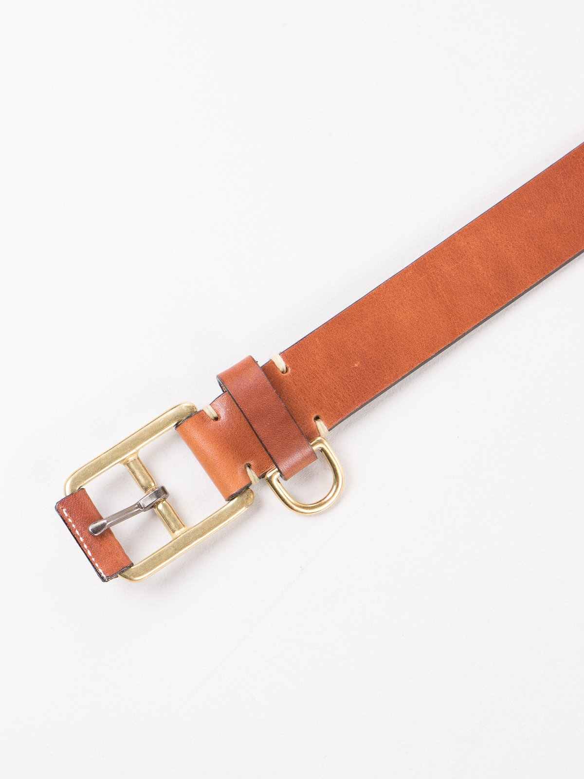 Buck Brown Stitched D–Ring Belt - Image 2