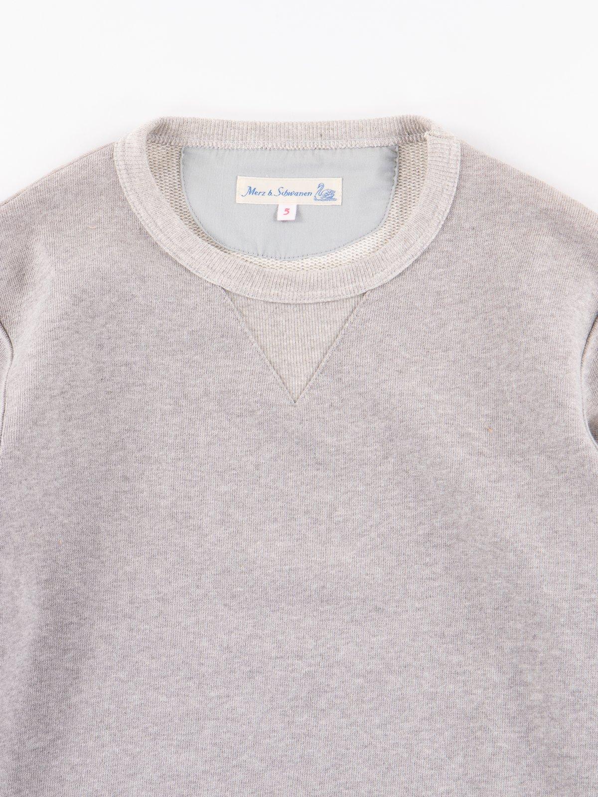 Grey Melange 3S48 Organic Cotton Heavy Sweater - Image 2
