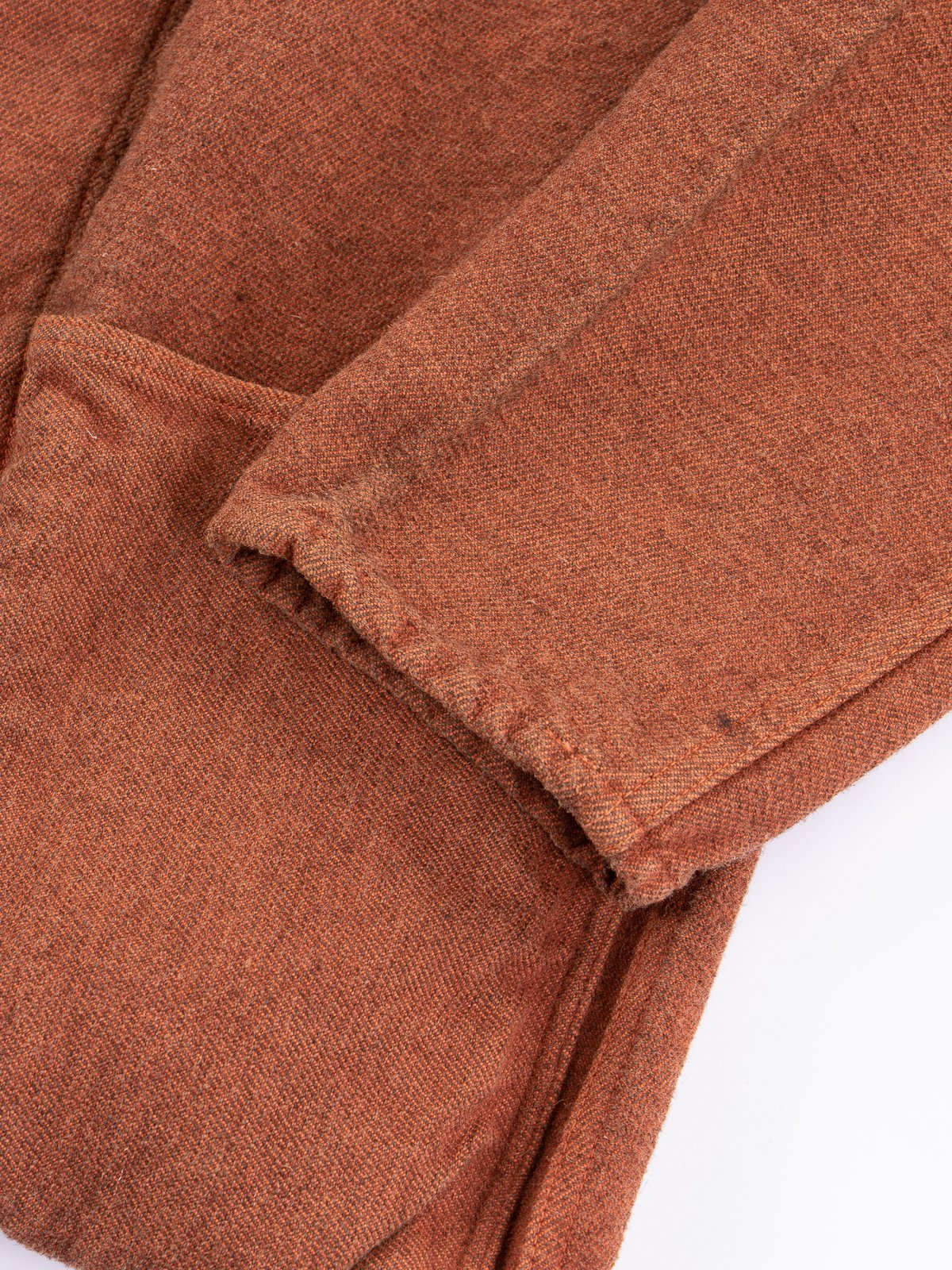 Red Ochre Dye Collared Shepherd's Coat - Image 5
