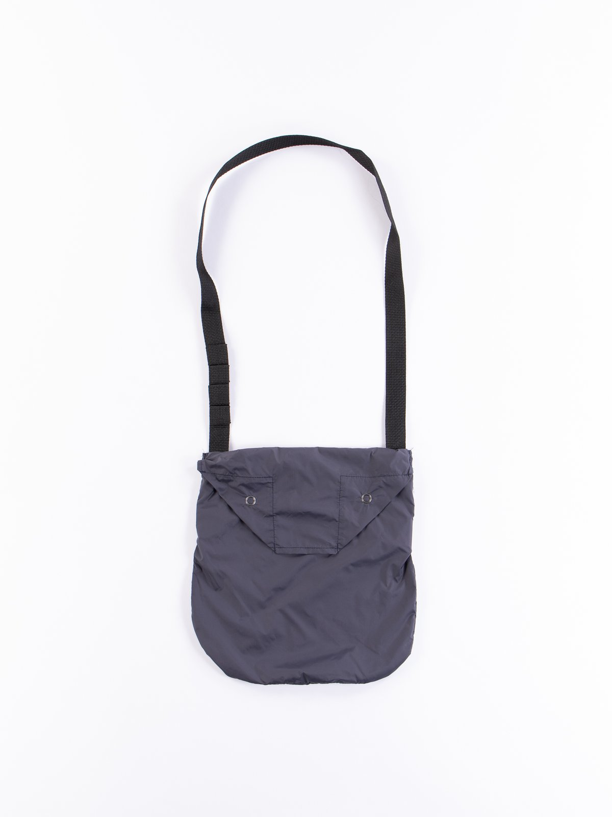 Dark Navy Nylon Taffeta Shoulder Pouch - Image 1