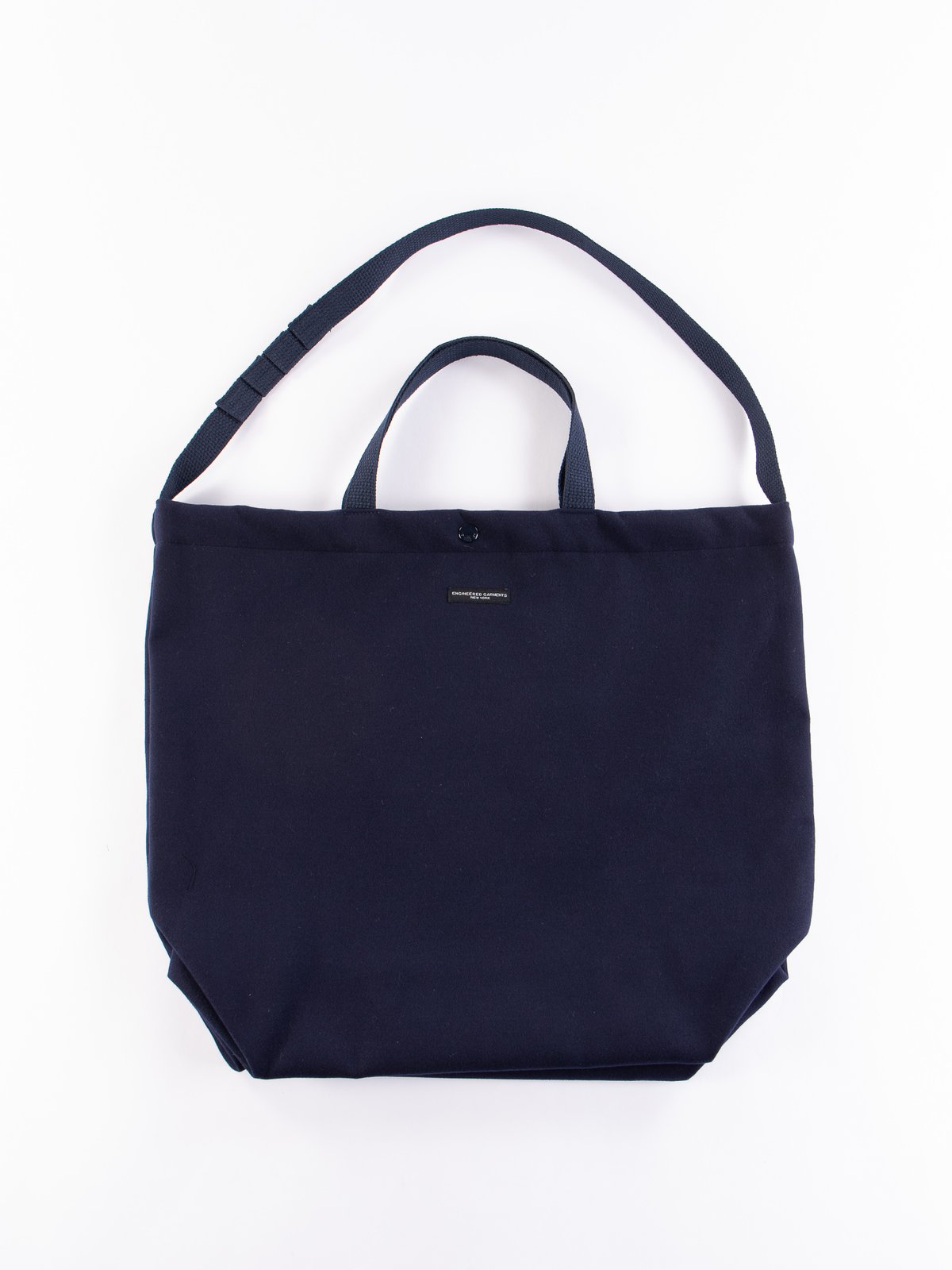 Navy Polyester Fake Melton Carry All Tote - Image 1
