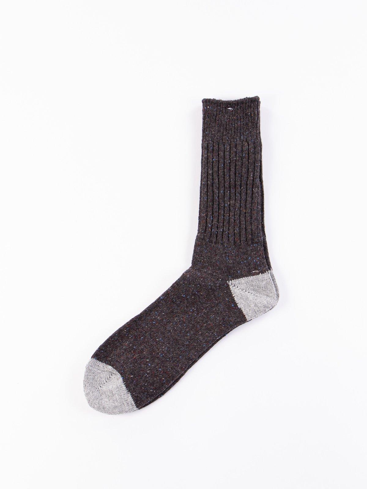 Charcoal Nep Yarn Crew Socks - Image 1