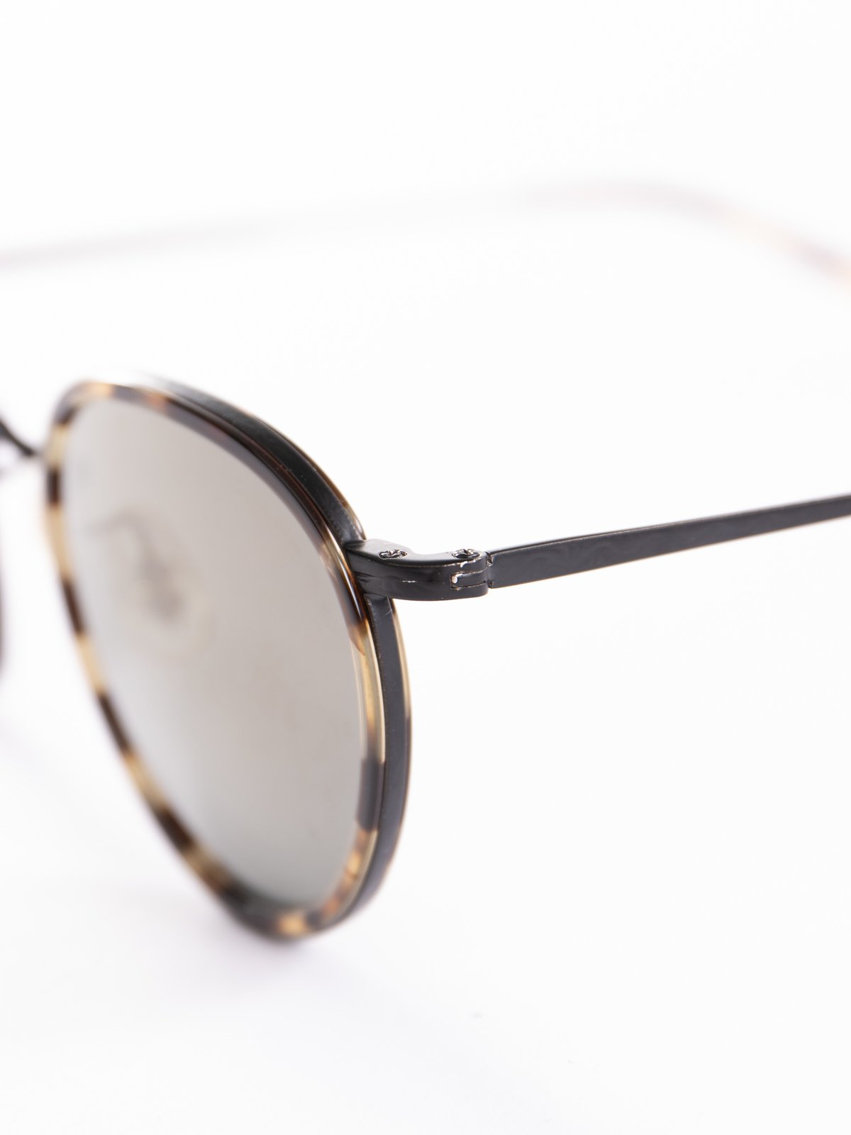 Hickory Tortoise–Matte Black/Dark Grey Mirror Gold MP–2 Sunglasses - Image 3