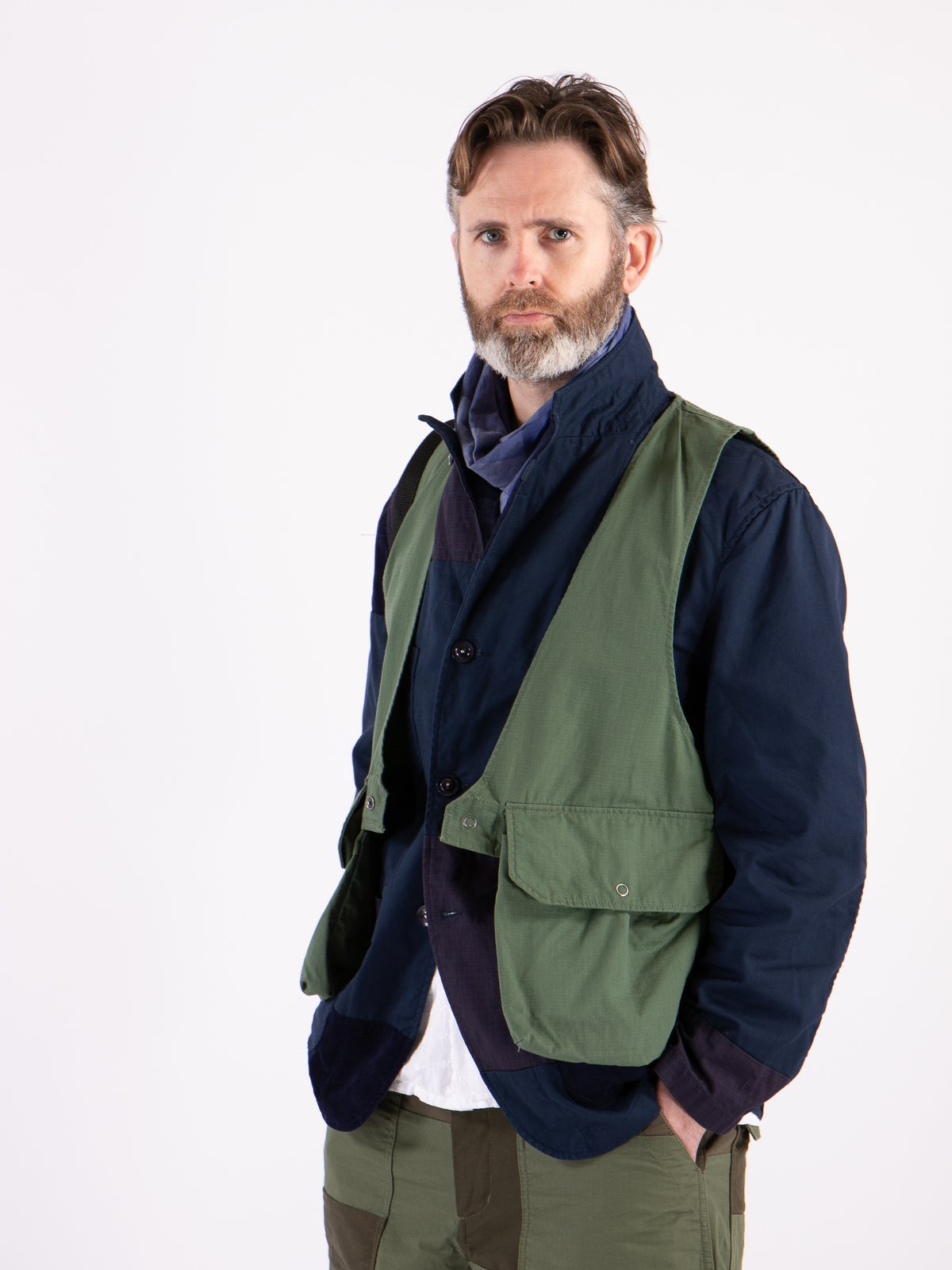 Olive Cotton Ripstop Fowl Vest - Image 2