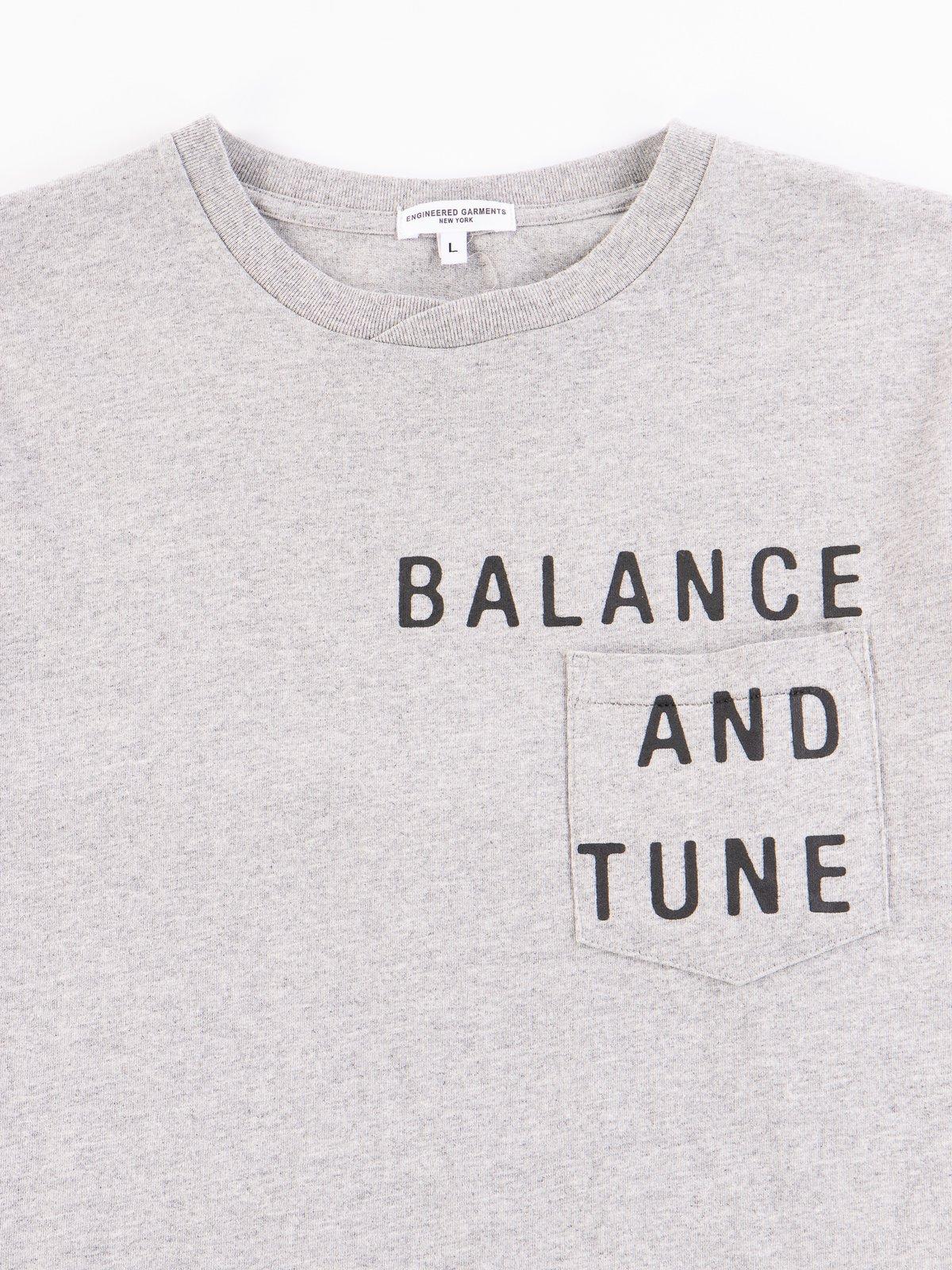 Grey Balance Printed Cross Crew Neck T–Shirt - Image 3