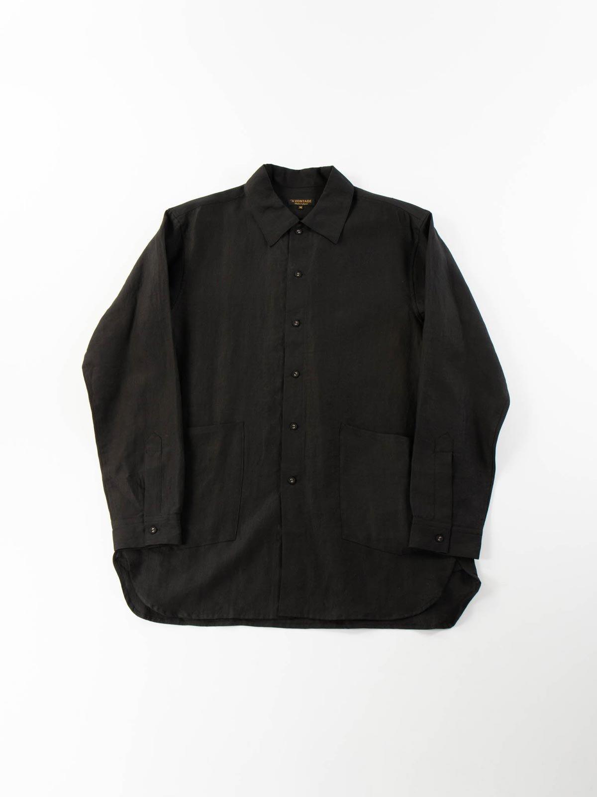 LINEN GARDNER SHIRT BLACK - Image 1