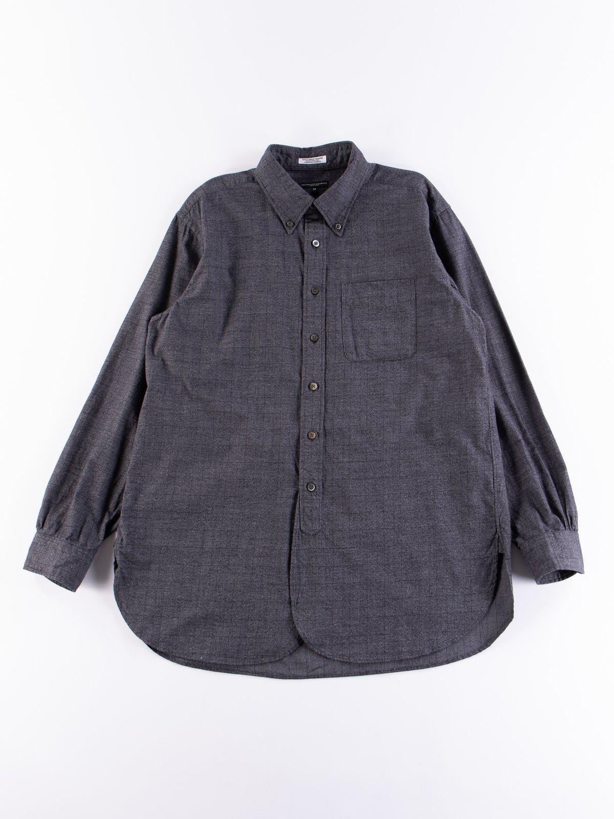 Grey Cotton Glen Plaid 19th Century BD Shirt - Image 1