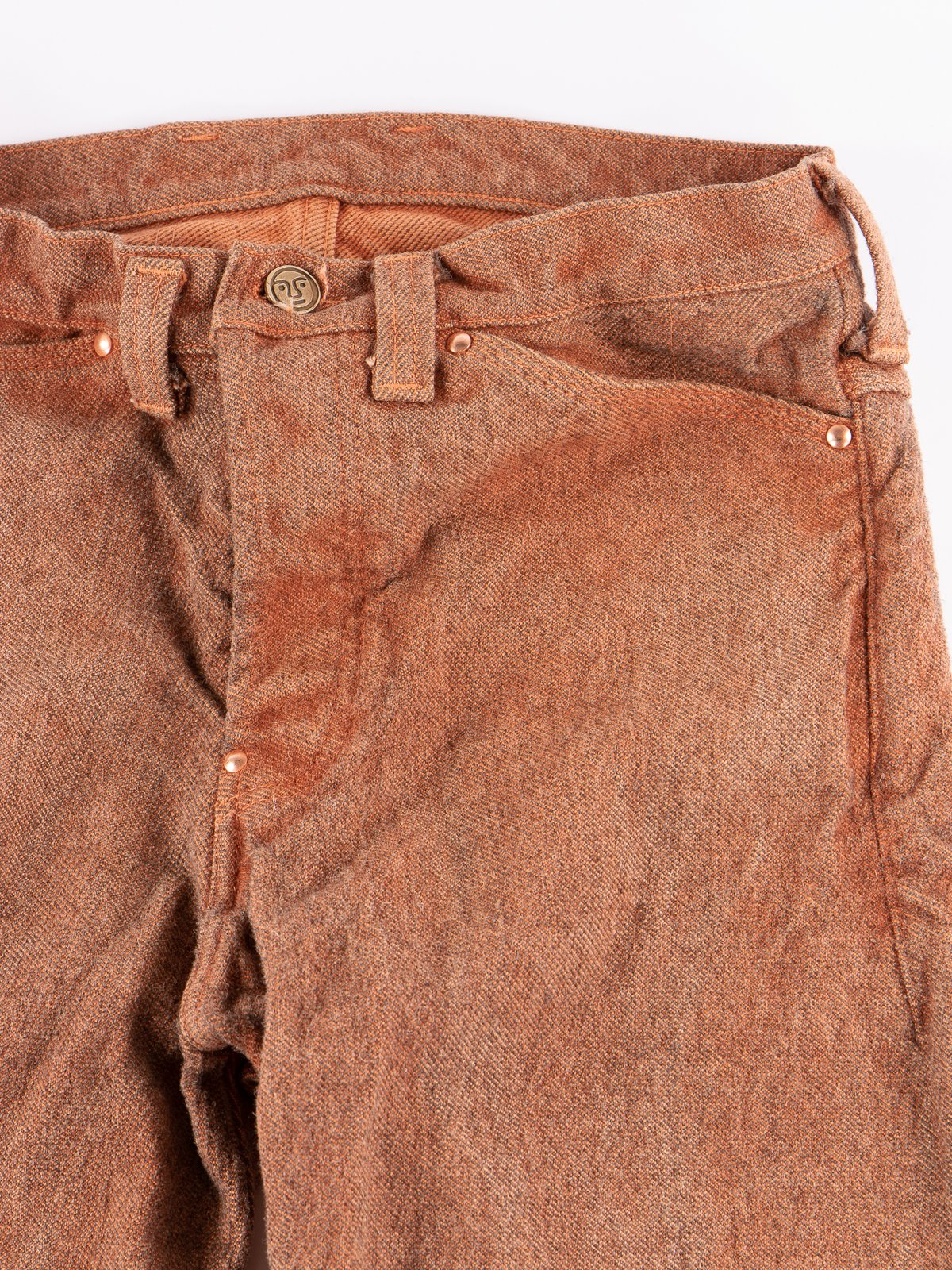 Red Ochre Dye Tapered Jean - Image 3