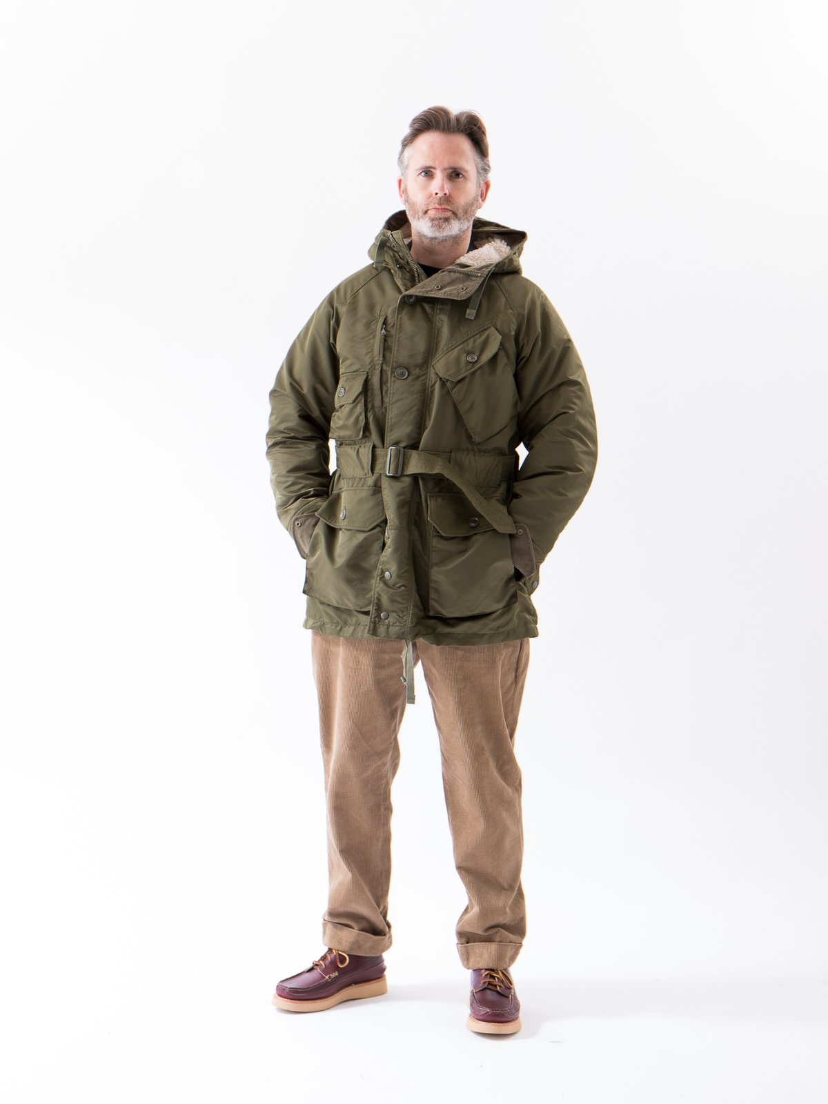 Olive Flight Satin Nylon Field Parka - Image 2