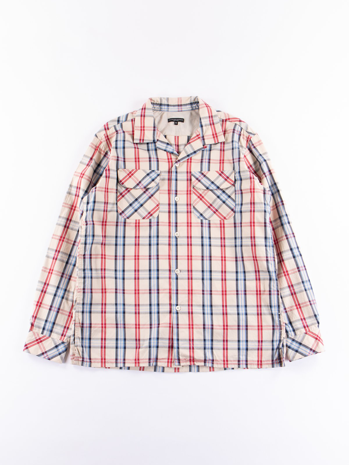 Khaki/Red/Blue Plaid Classic Shirt - Image 1