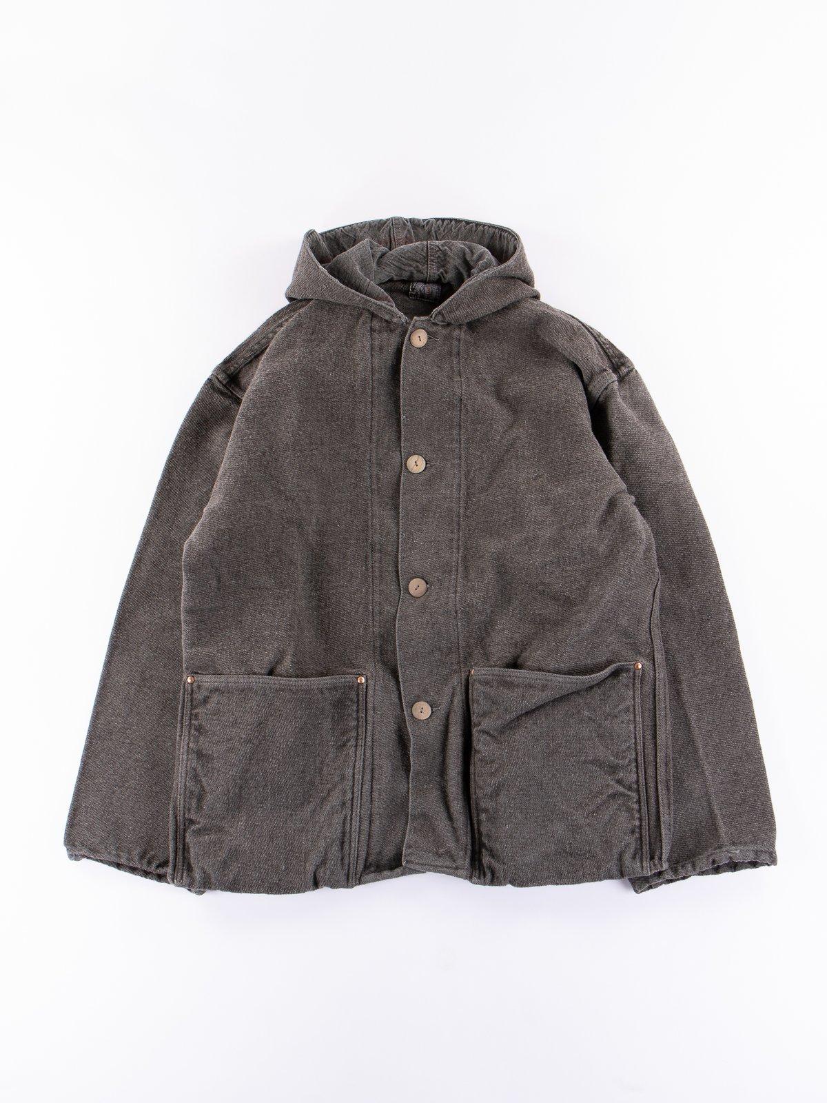 Indian Black Dye Hooded Shepherd's Coat - Image 1