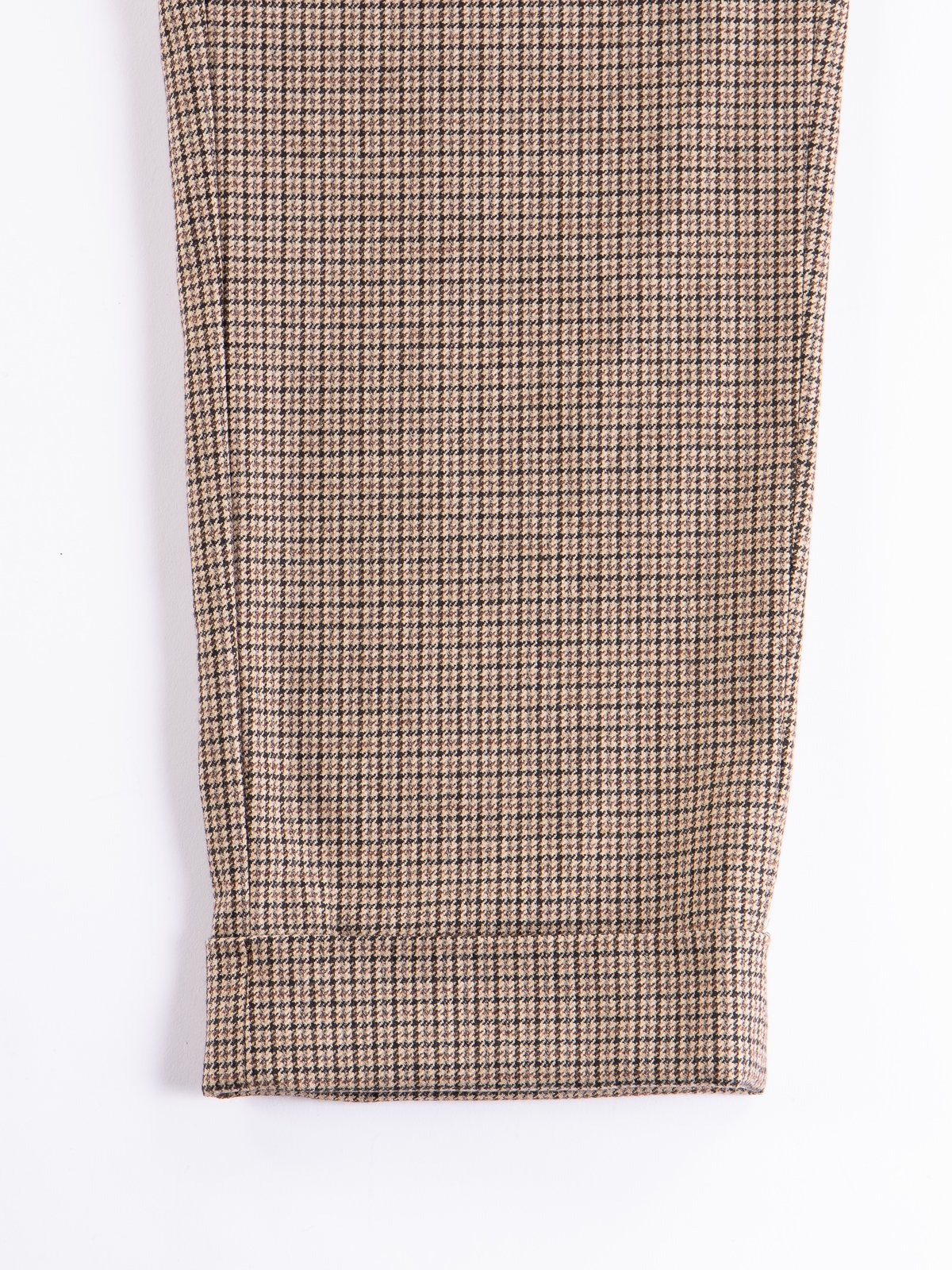 Brown Wool Poly Gunclub Check Andover Pant - Image 5