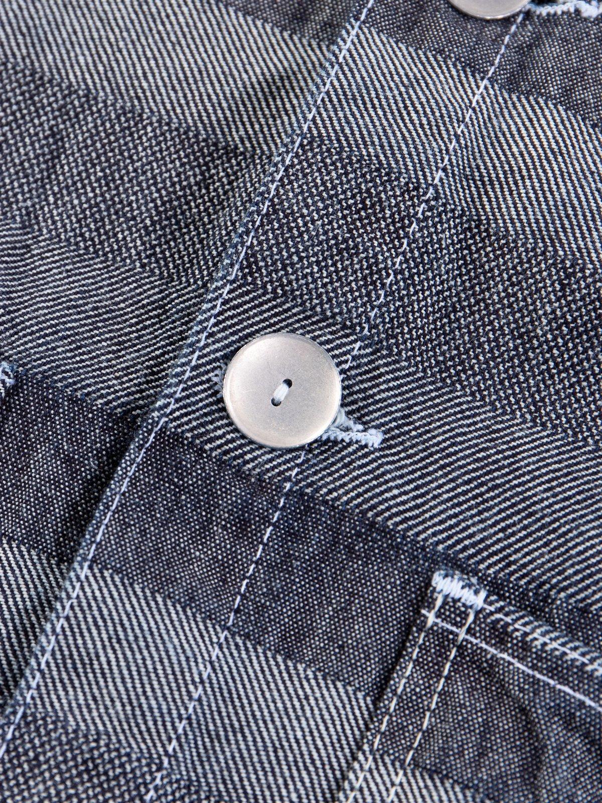 Rinse Washed Indigo Weaver's Blanket Stripe Floor Shirt - Image 6