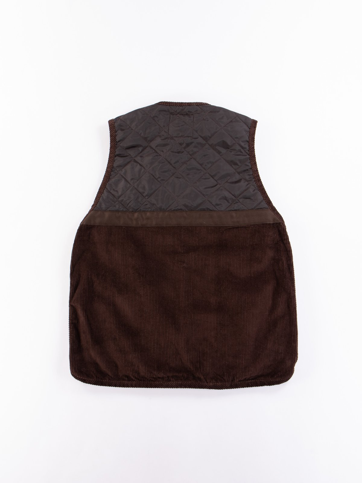 Brown Washed Cord Taped Gilet - Image 6
