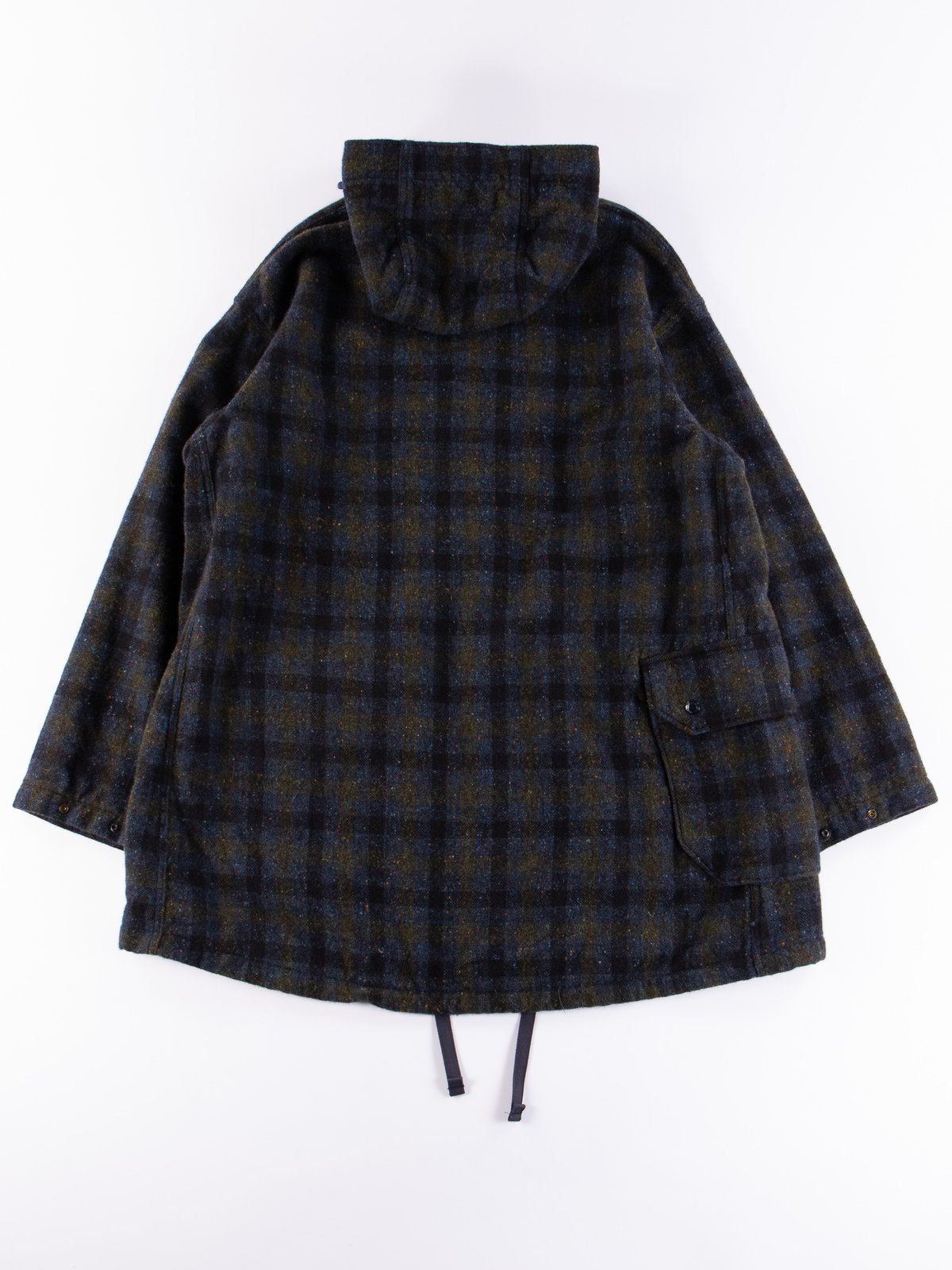 Navy Check Donegal Wool Tweed Madison Parka - Image 12