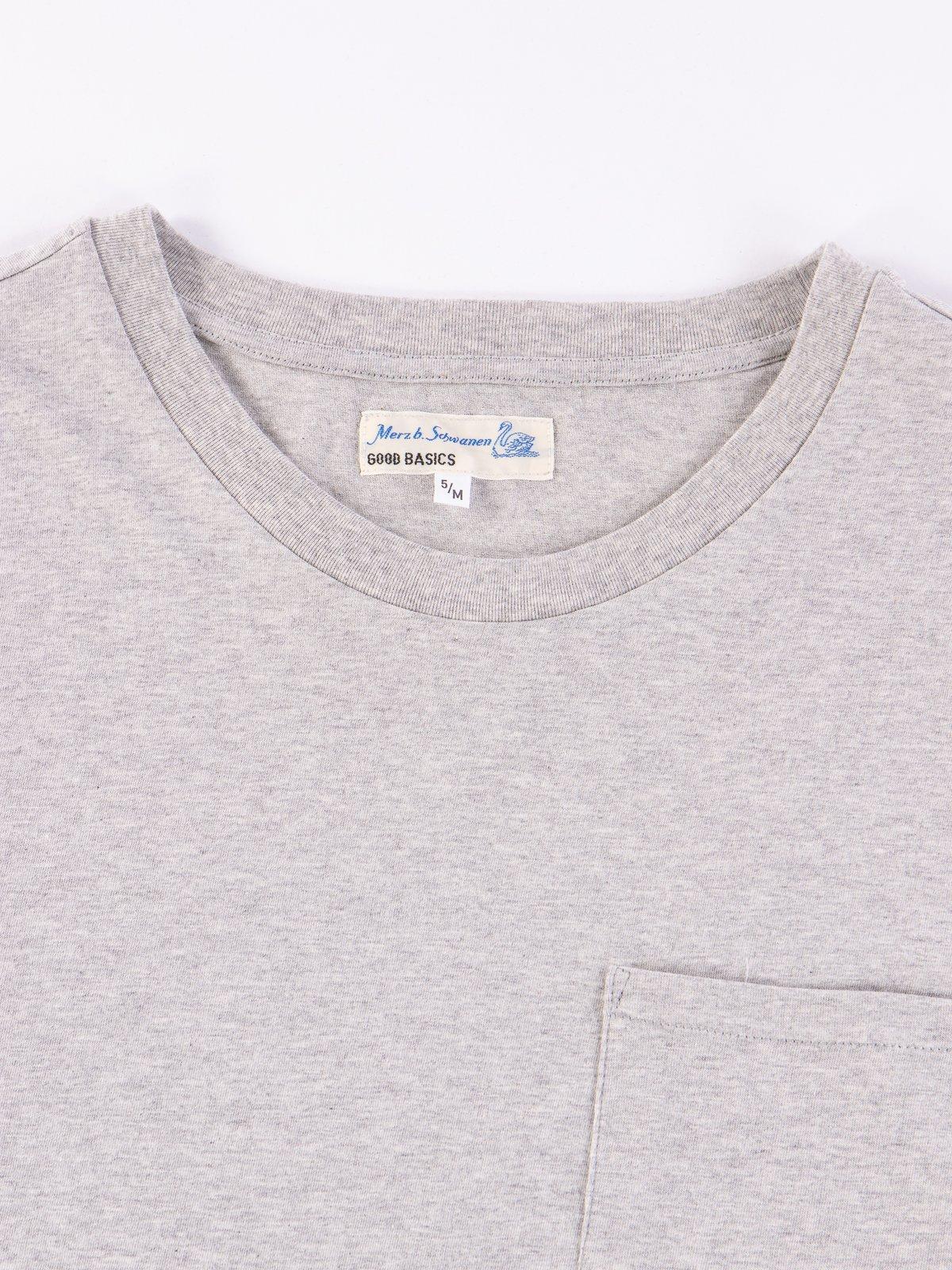 Grey Melange Good Basics CTP01 Pocket Crew Neck Tee - Image 3