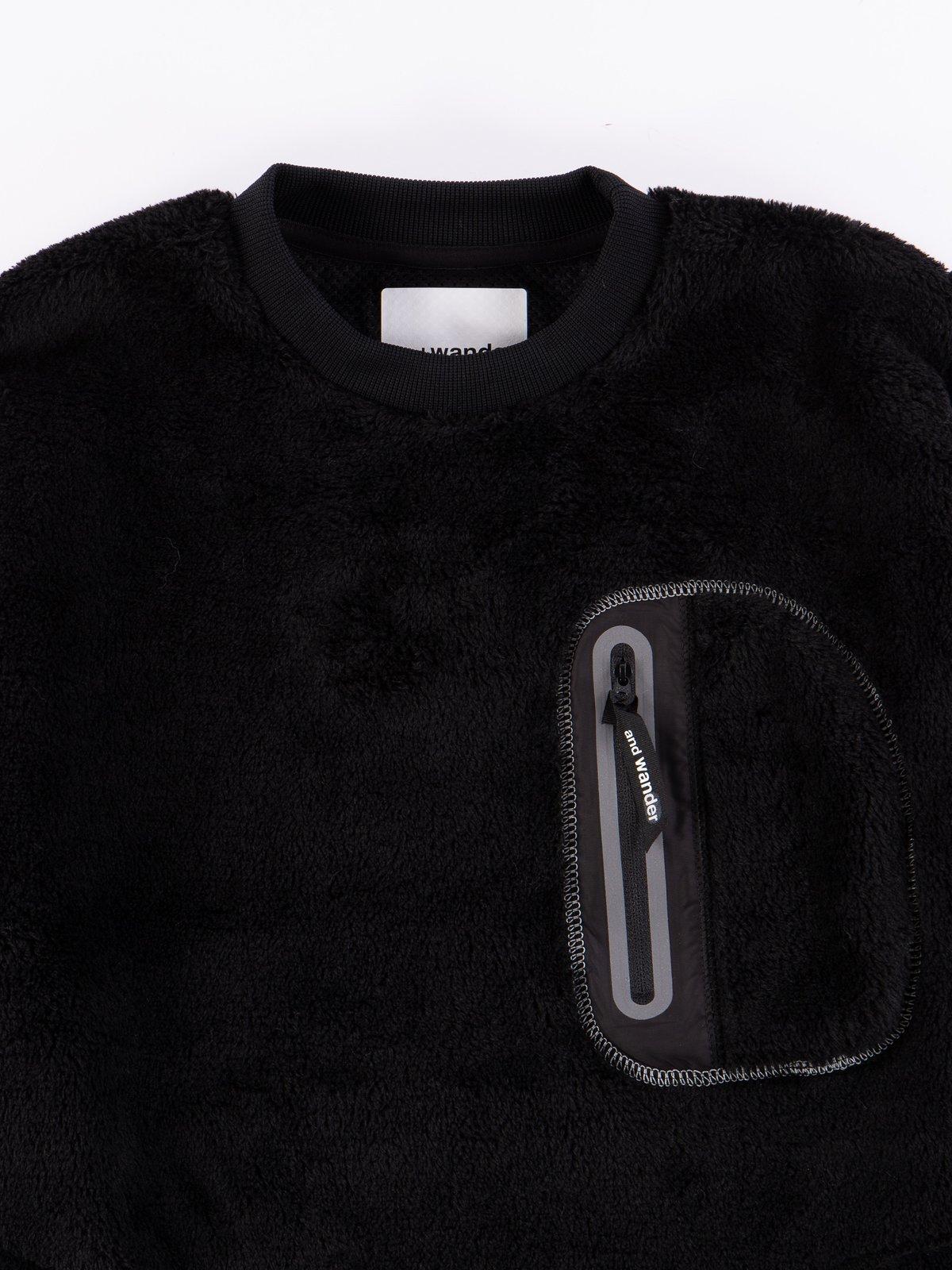 Black High Loft Fleece Pullover - Image 4