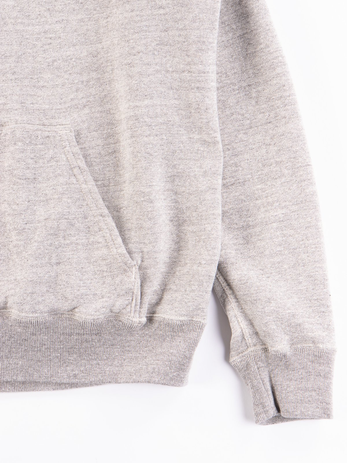 Heather Grey Reversible Print Hooded Sweat - Image 8