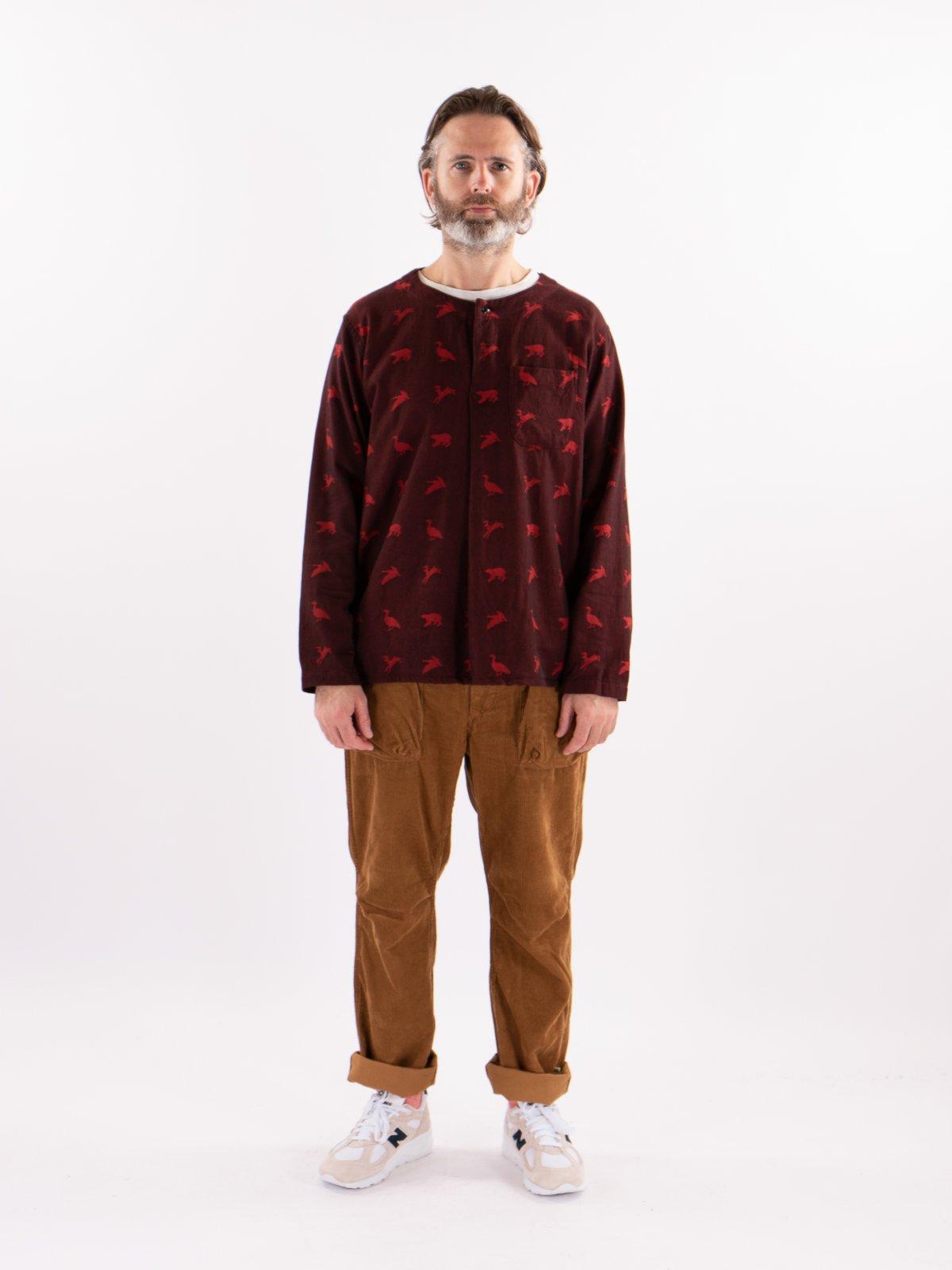 Black/Red Game Animal Jacquard MED Shirt - Image 2
