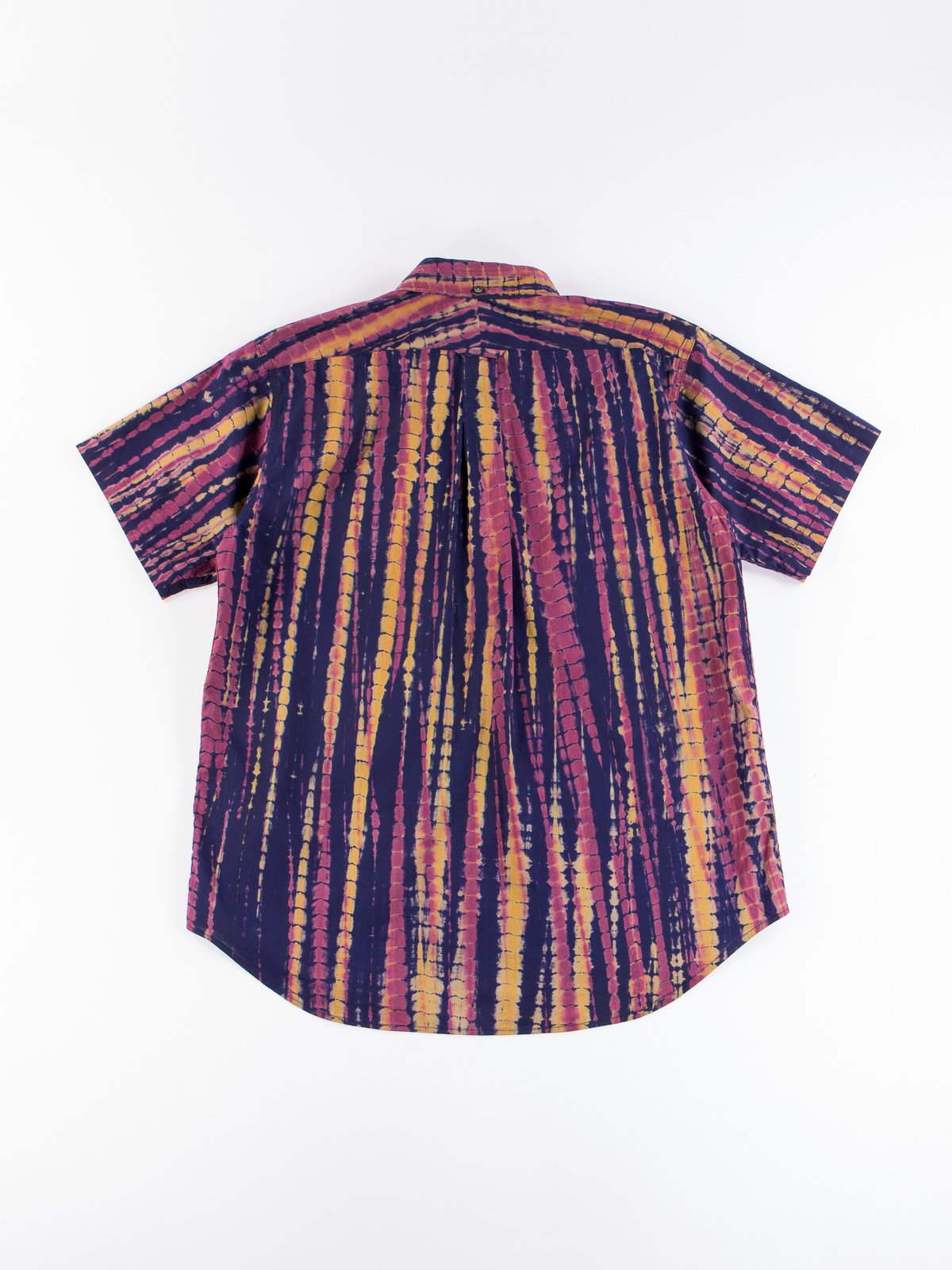 Navy Cotton Lawn Batik Stripe Popover BD Shirt - Image 6