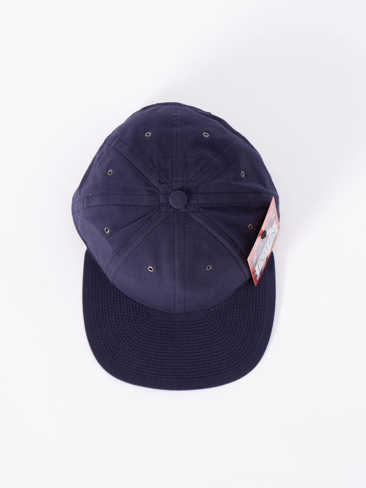 NAVY WASHED COTTON CAP - Image 3