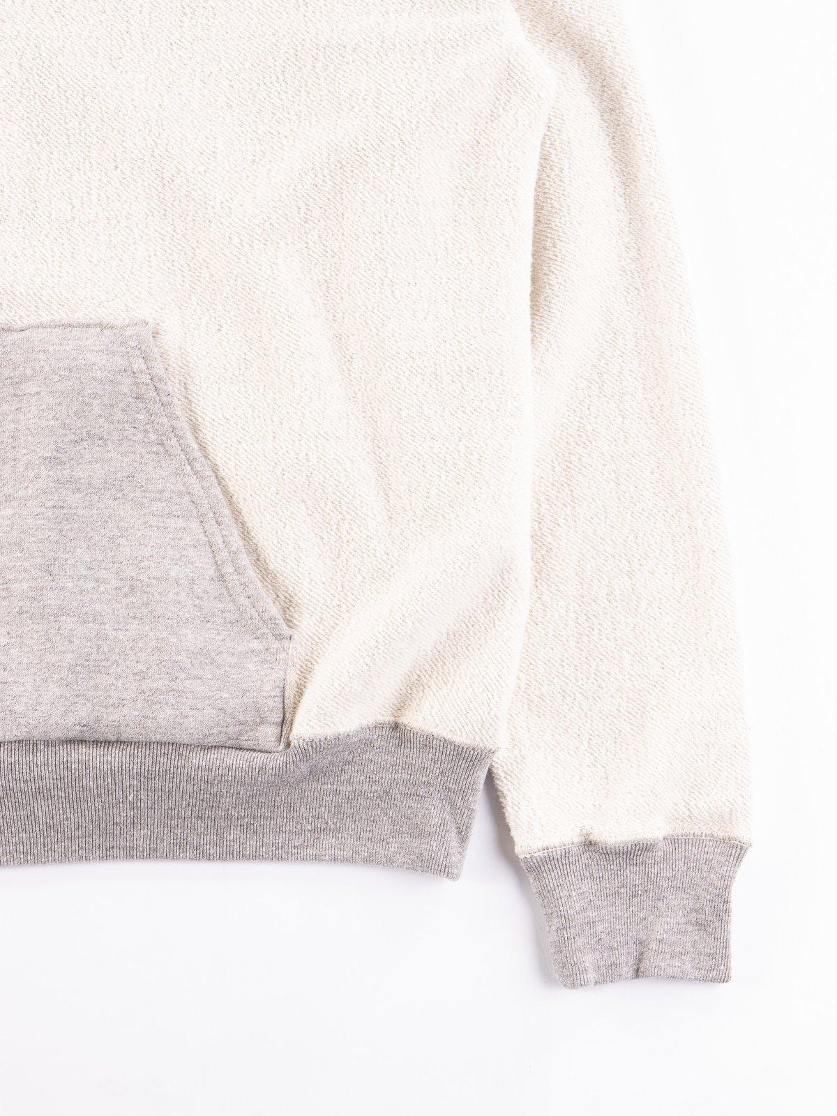 Heather Grey Reversible Print Hooded Sweat - Image 4