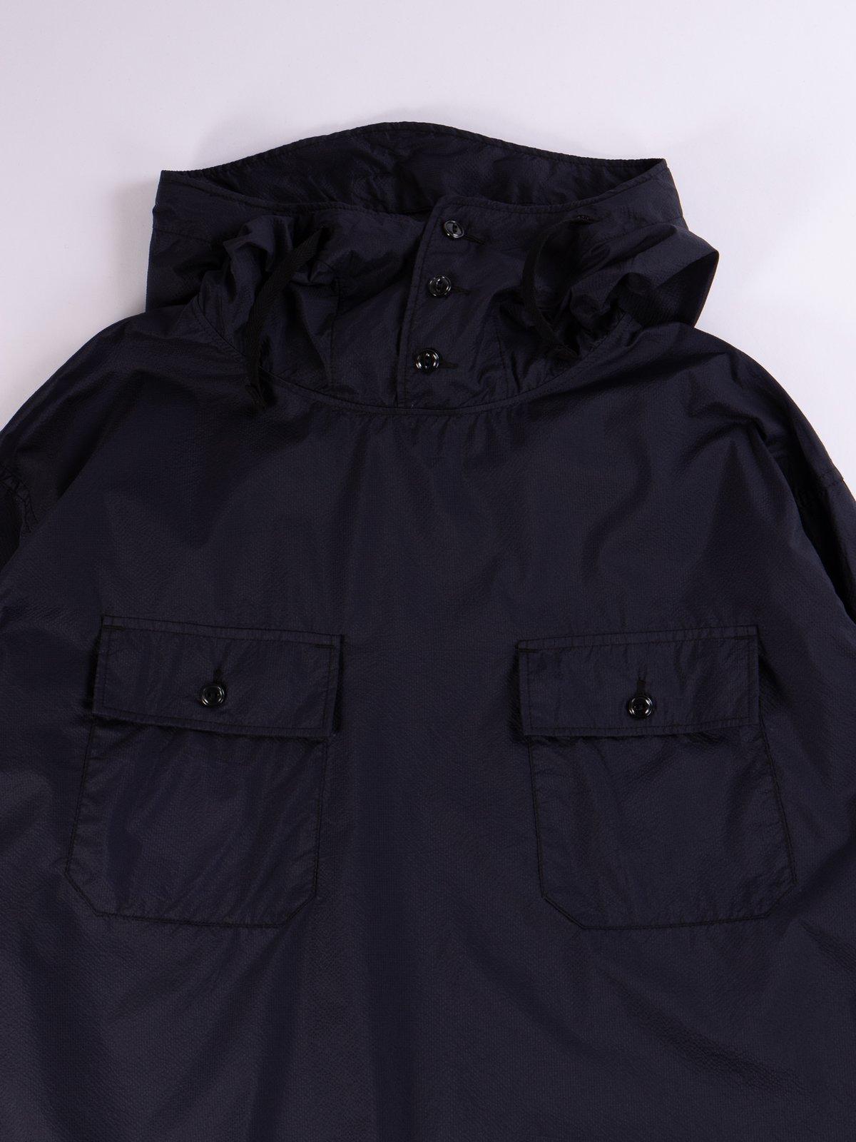 Dark Navy Nylon Micro Ripstop Cagoule Shirt - Image 4