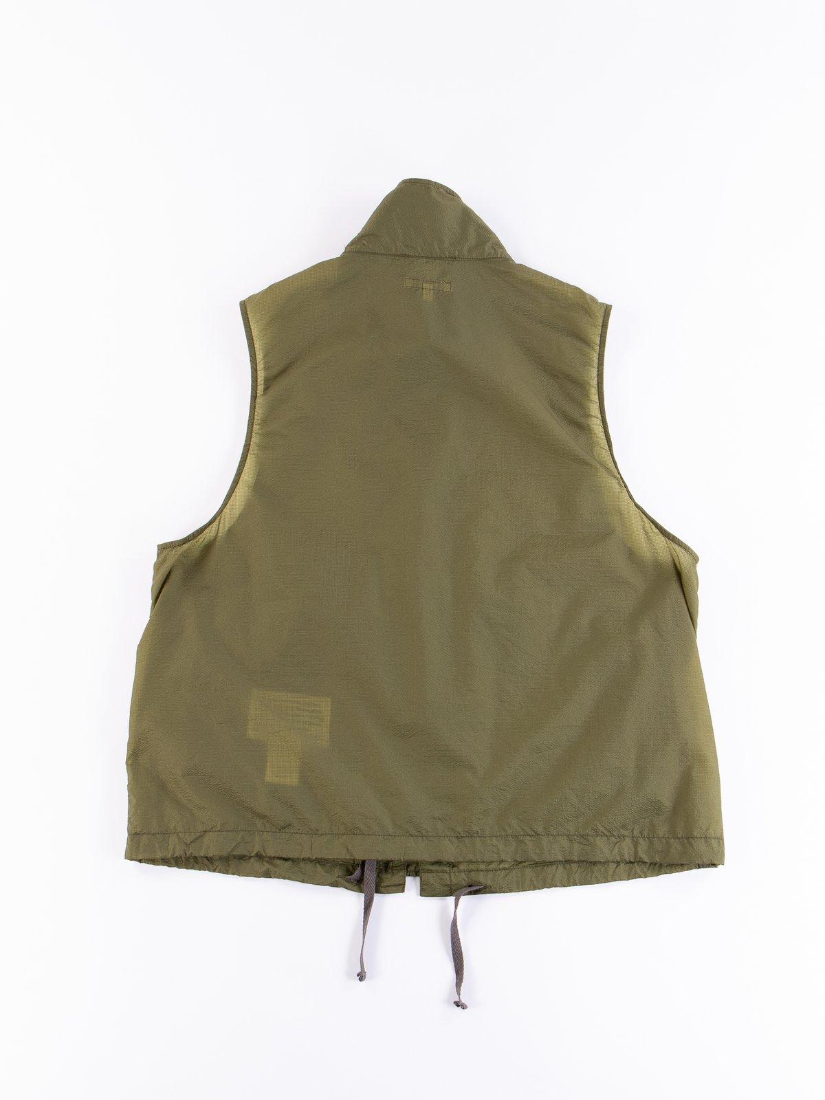 Olive Nylon Micro Ripstop Field Vest - Image 5