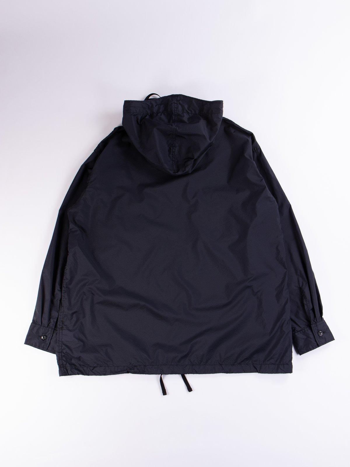 Dark Navy Nylon Micro Ripstop Cagoule Shirt - Image 6