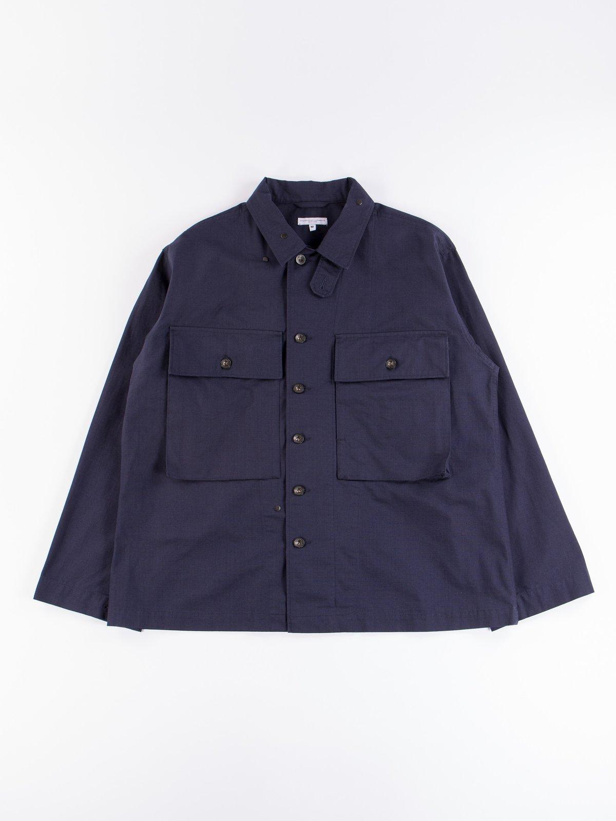 Dark Navy Cotton Ripstop M43/2 Shirt Jacket - Image 1