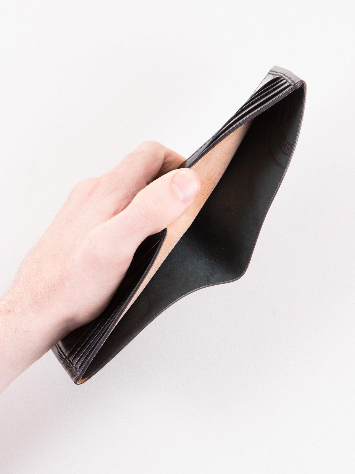 Black Horween Cordovan 4–4 Wallet - Image 4