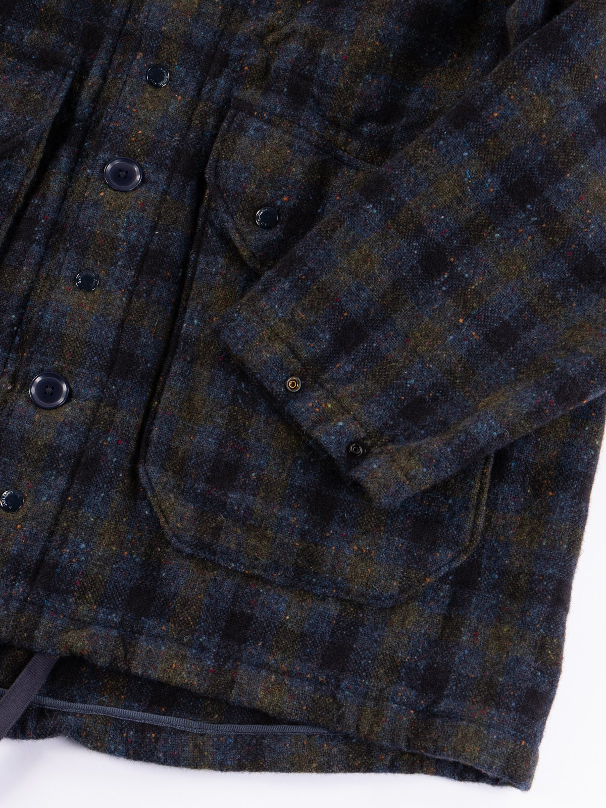 Navy Check Donegal Wool Tweed Madison Parka - Image 6