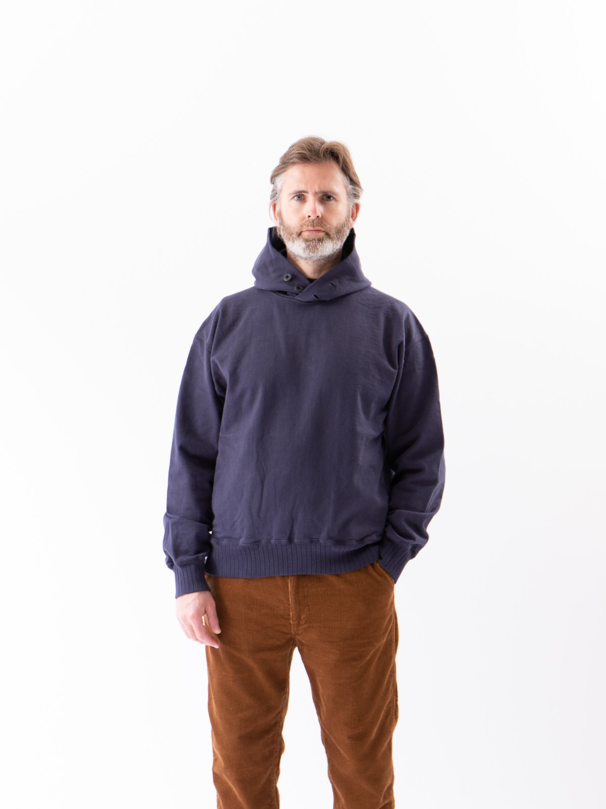 Classic Navy High Density Sweat Pullover Parka - Image 2