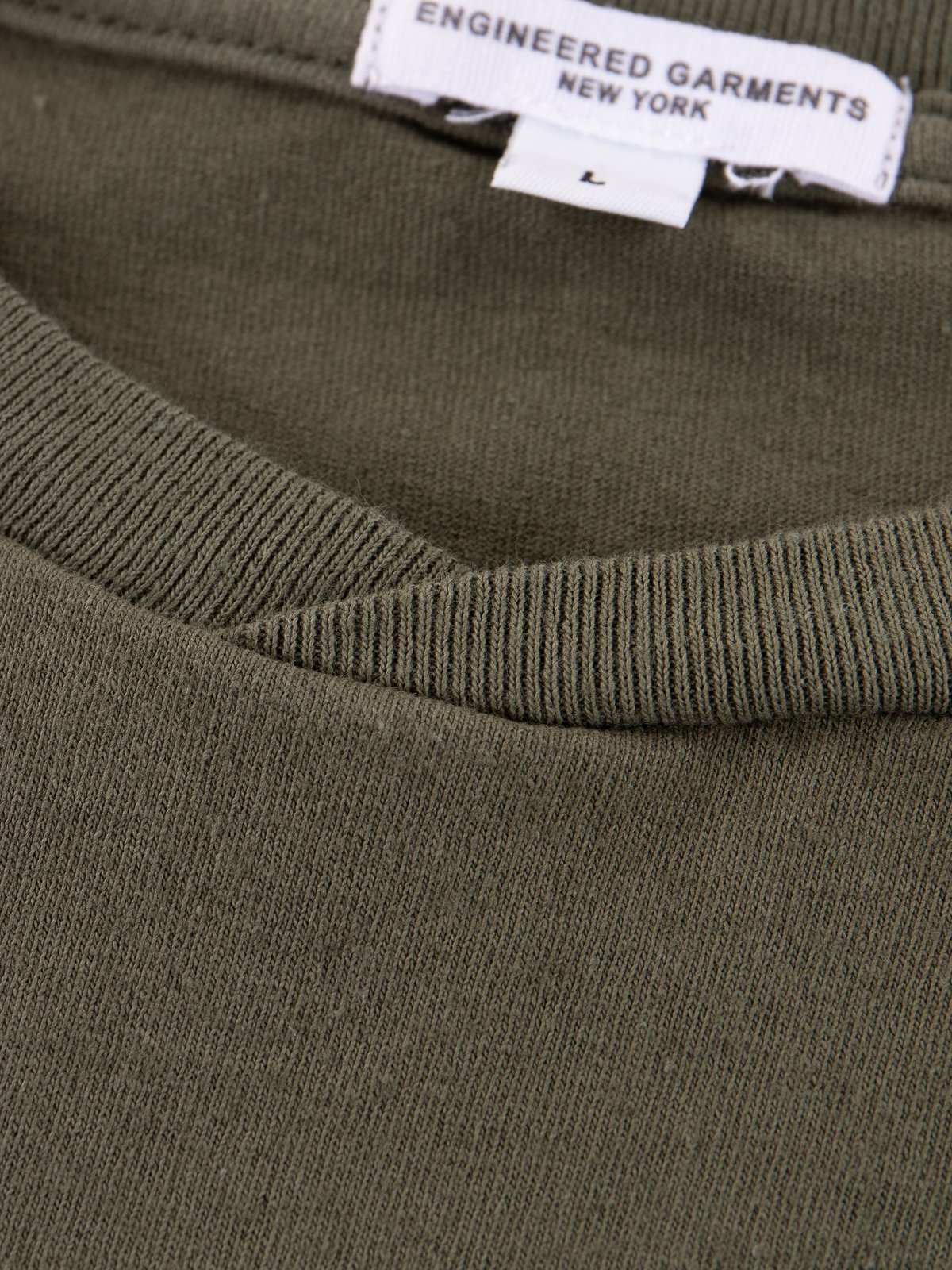 Olive Everyone Crossover Crew Pocket Tee - Image 6