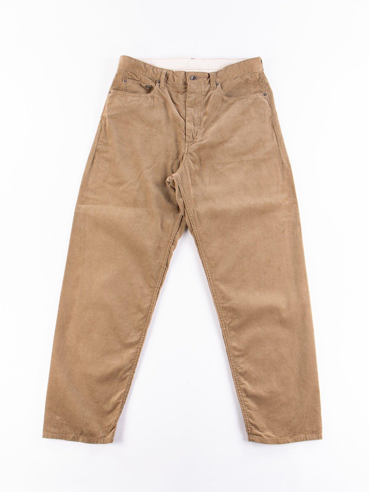 Khaki 14W Corduroy Wide Peg Jean - Image 1