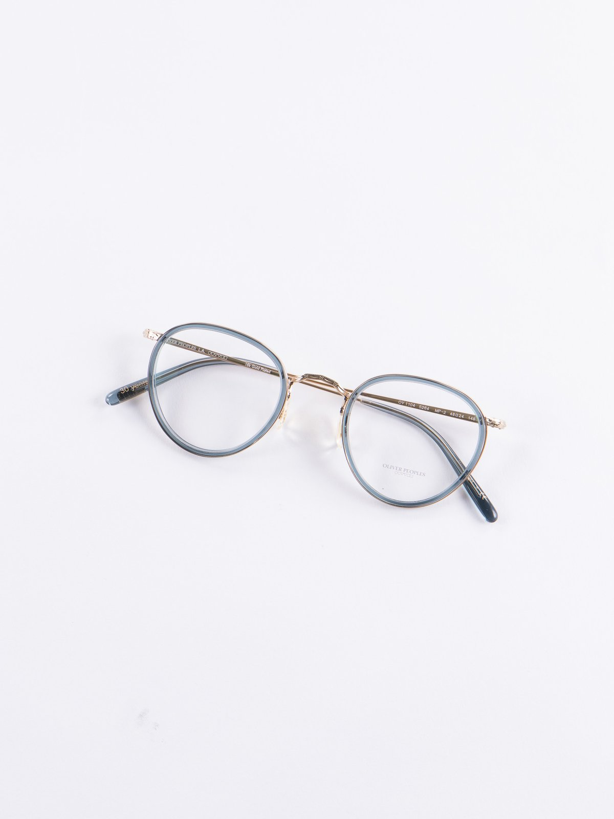 984a9d0c814 18k Gold Washed Teal MP–2 Optical Frame by Oliver Peoples – The ...