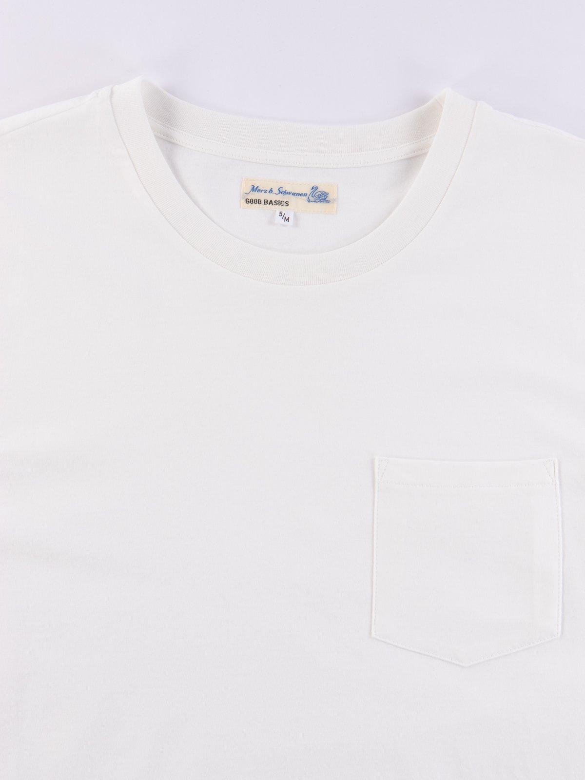 White Good Basics CTP01 Pocket Crew Neck Tee - Image 3