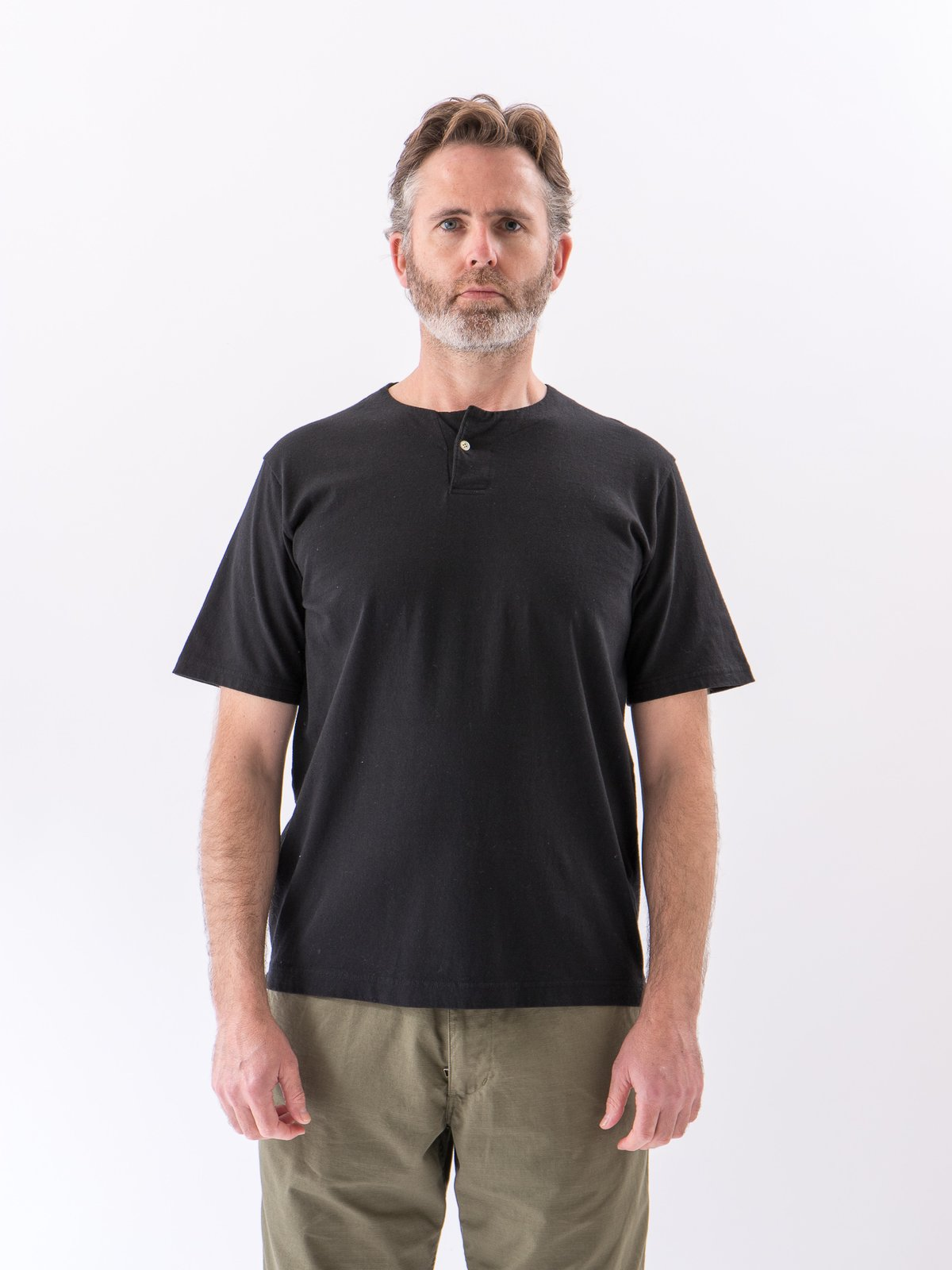 Black Henley T–Shirt - Image 2
