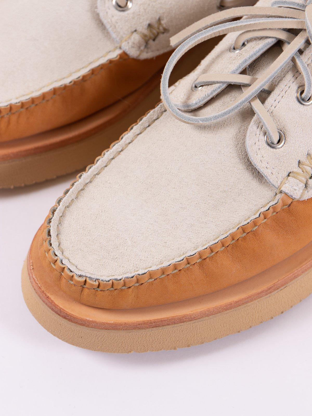 BB Tan/FO White Boat Shoe Exclusive - Image 3